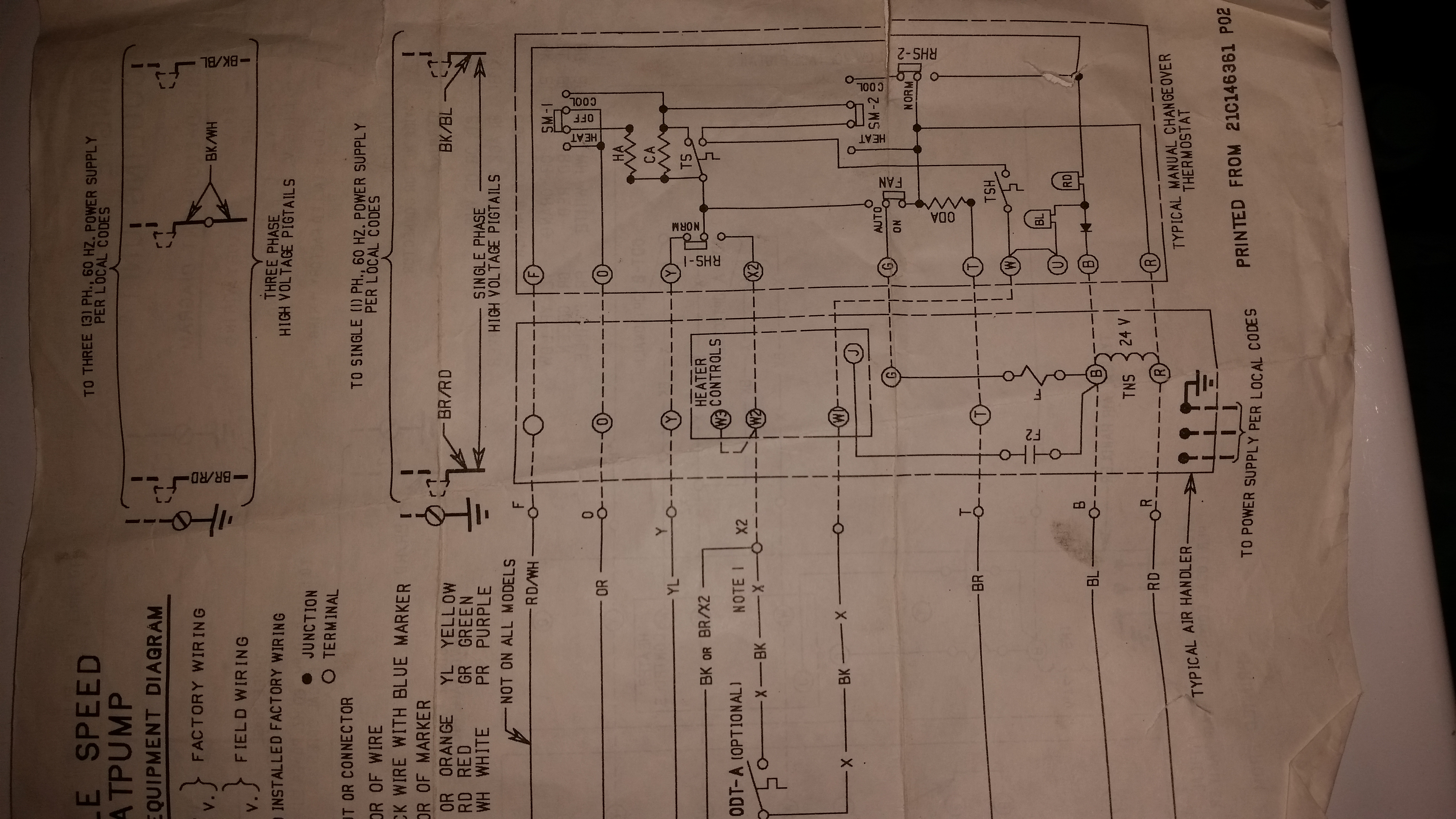 i installed a thermal zone tzpa 330 2a757 heat to a trane twe031e130a0 air handler the