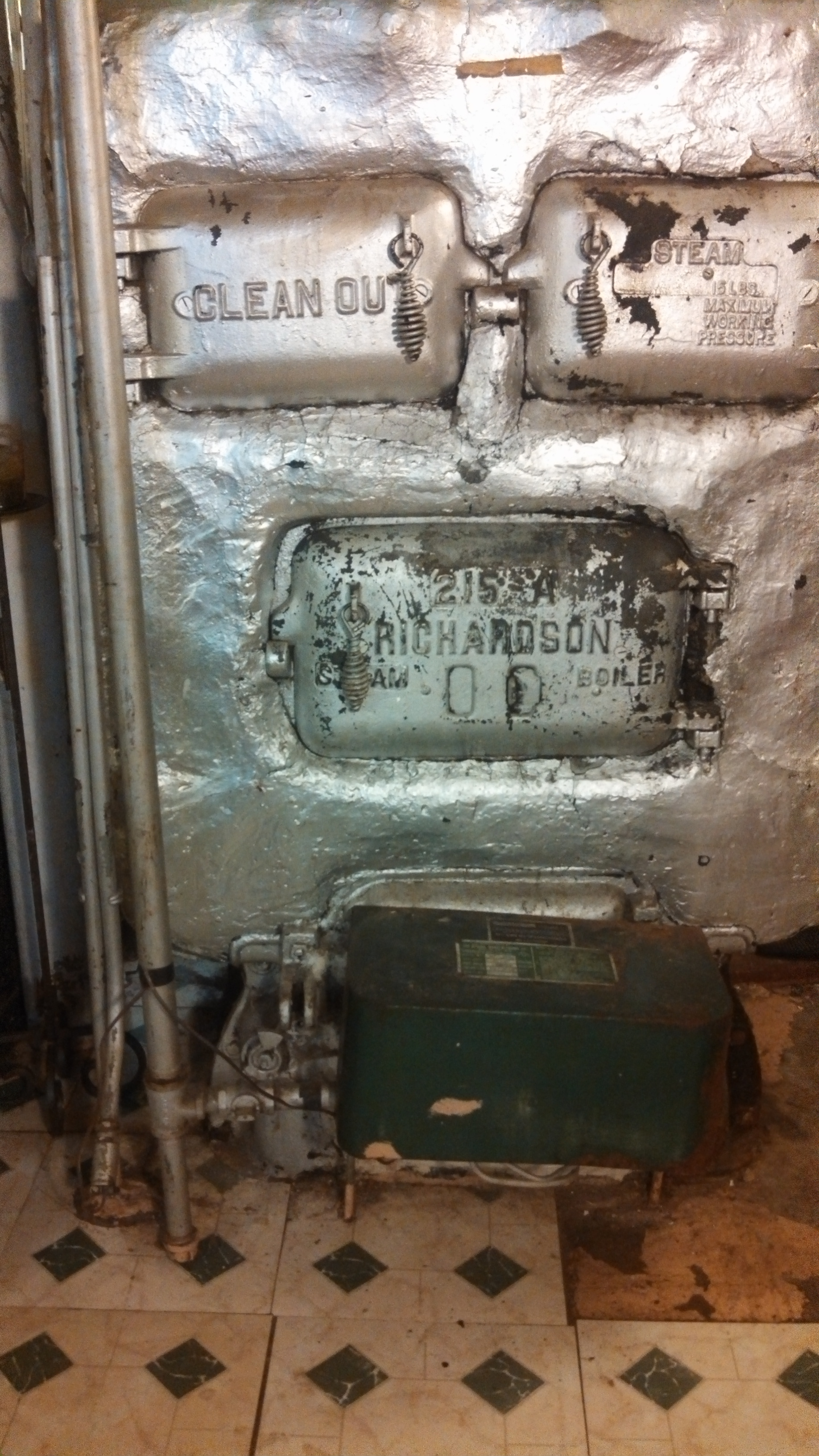 I have and old gas steam boiler. The pilot is on but the boiler won ...