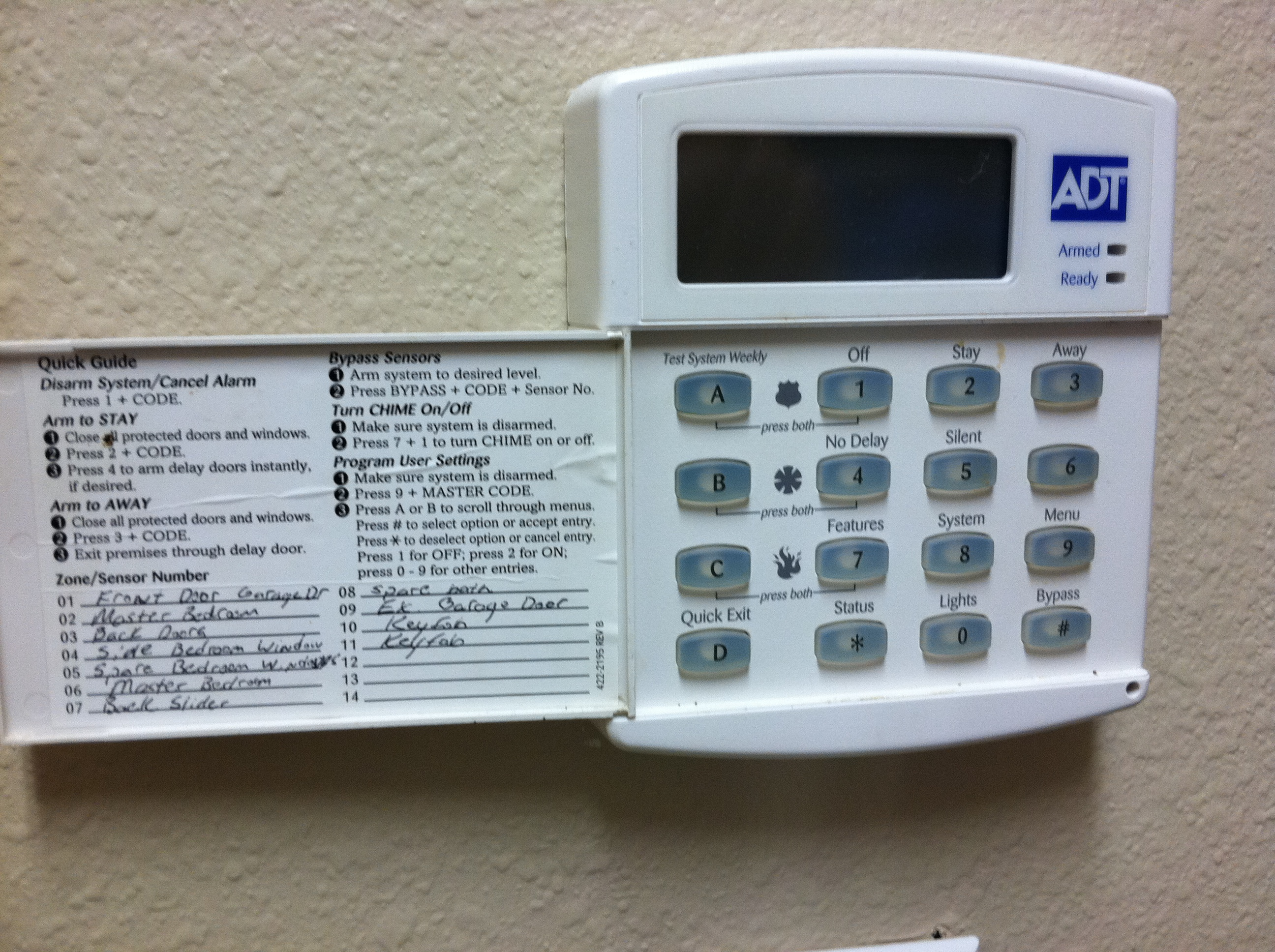 i have an adt security system that is installed in the home i rh justanswer com adt focus panel manual adt ts panel manual
