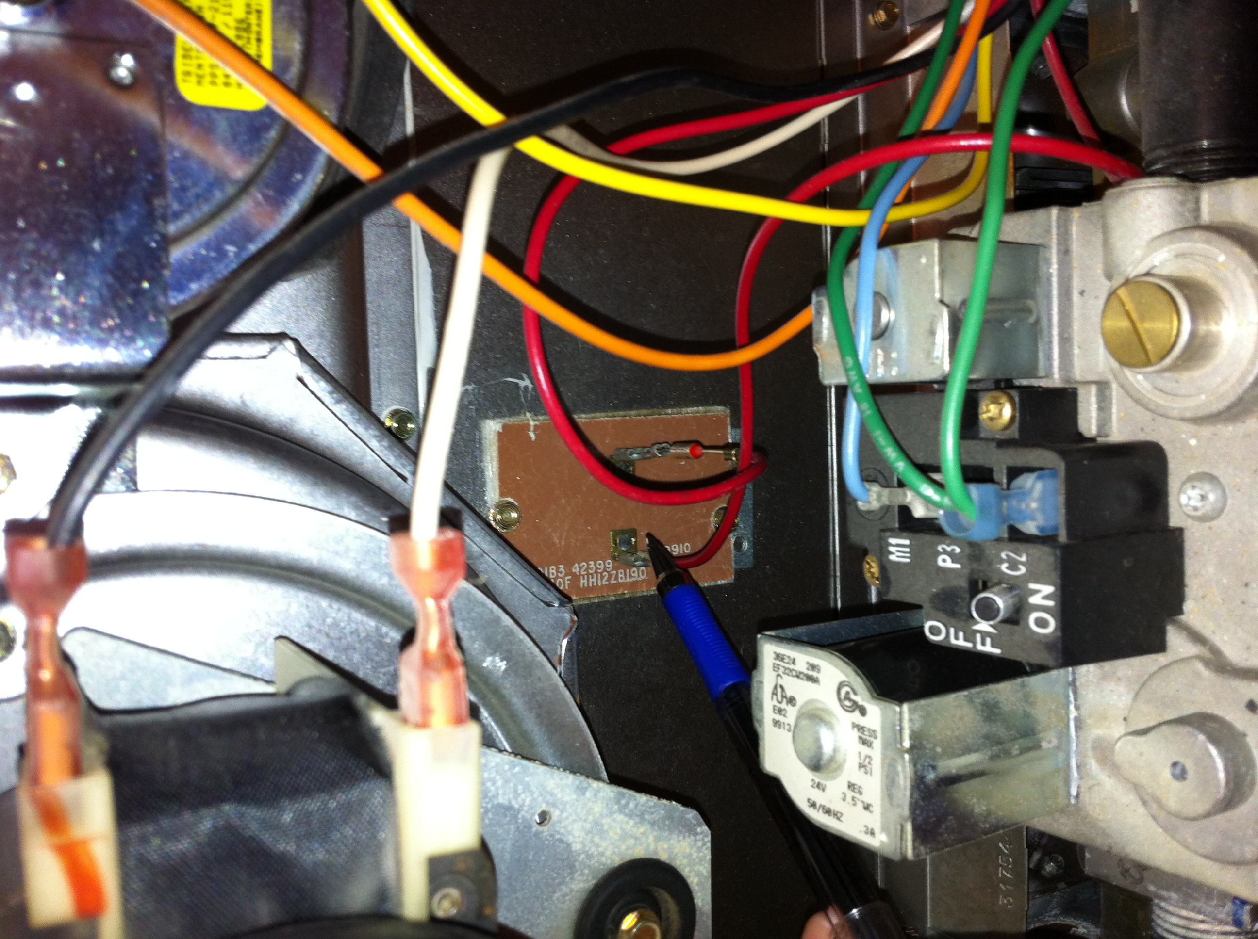 how do I reset my limit rollout switch on my Carrier Heate