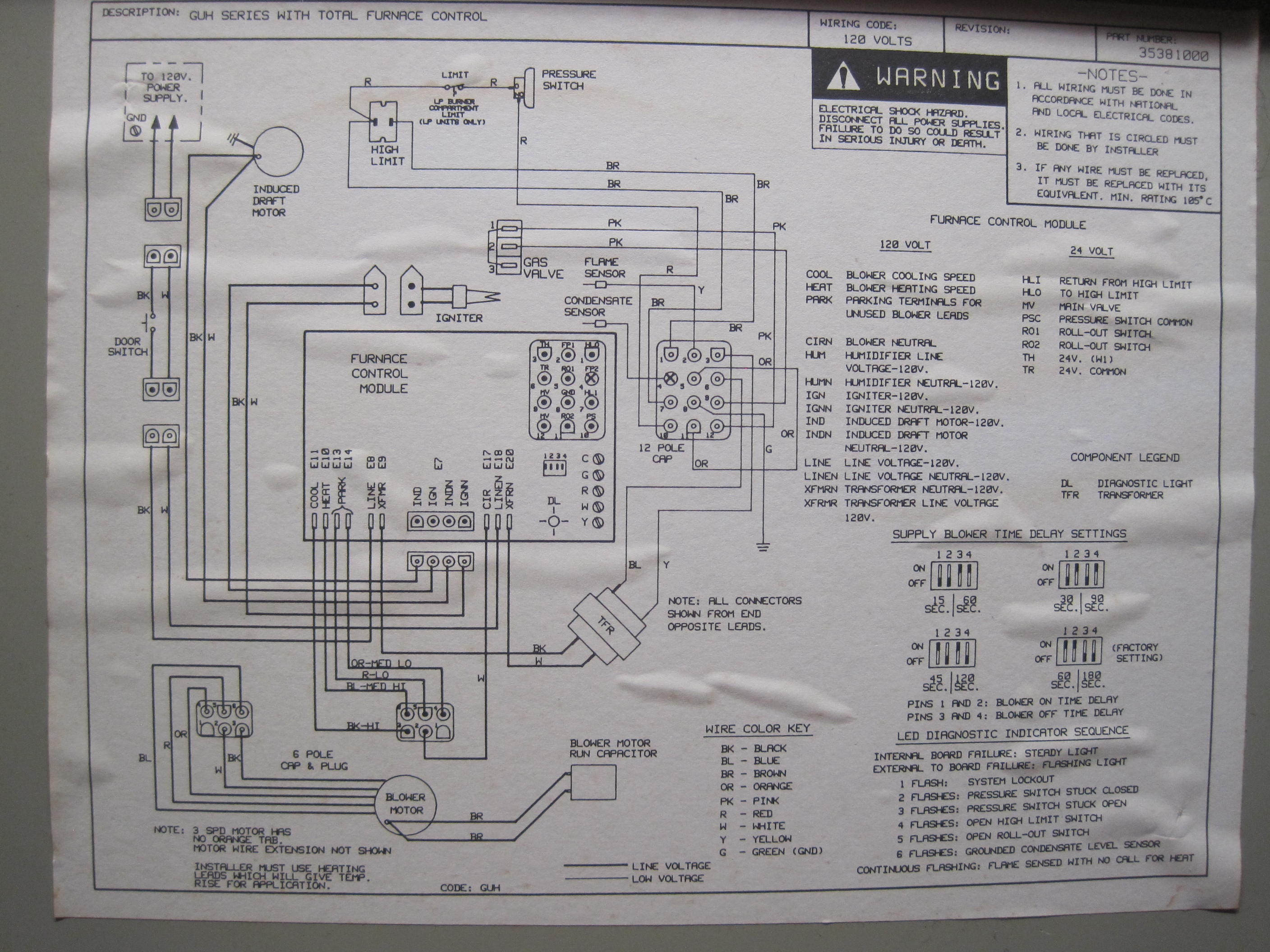 oil furnace wiring diagram older furnace residential hvac furnace wiring your furnace will not turn on. shortly before the total failure, it made an unusual and rhythmic ... #6