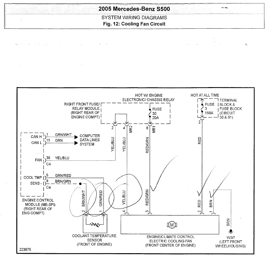 Where Can I Find A Cooling Fan Circuit Diagram For 2005