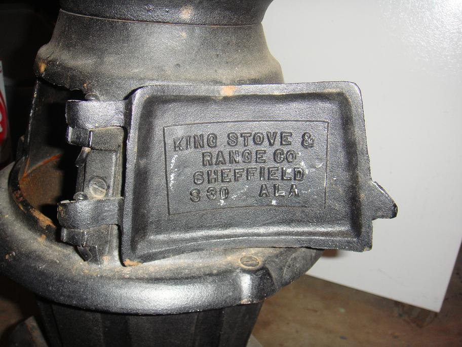 Have A Small Pot Belly Stove Good Condition Some Rust It Is Made By King And Range Co Sheffield On Door Fleur De Lis Inside Says