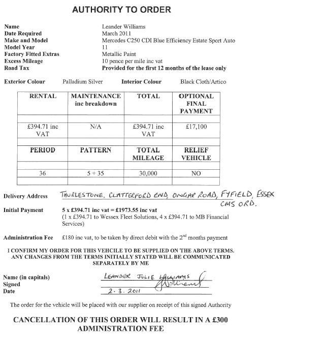 Car Lease Form. Auto Lease Agreement Form Used Car Lease Purchase