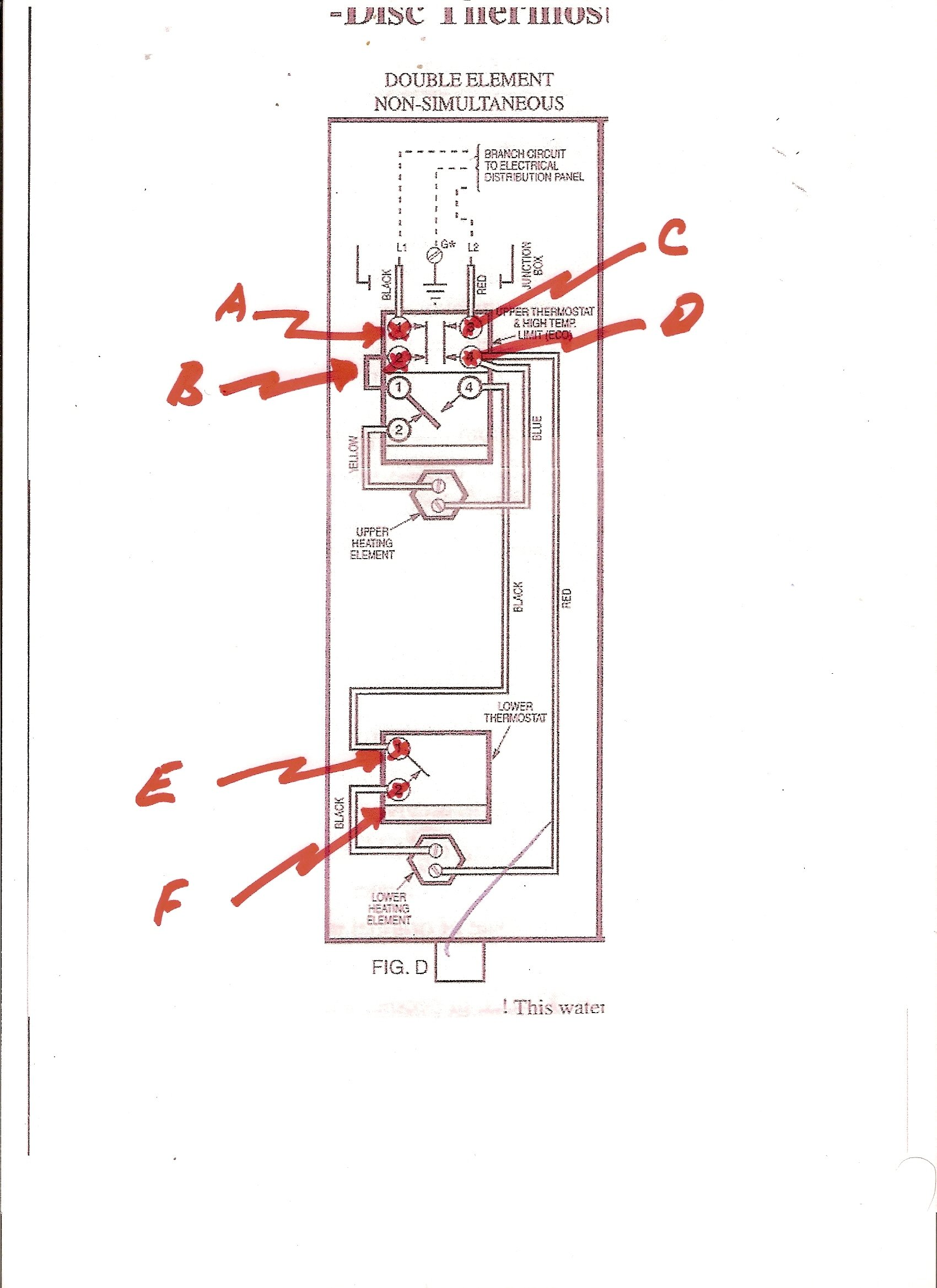 Water Heater Thermostat Wiring Diagram Single Element on