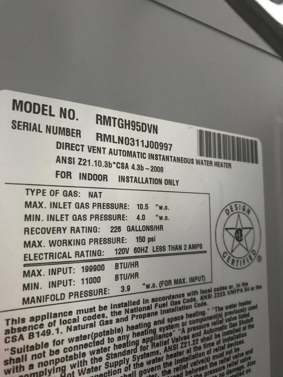 Richmond Encore Tankless Water Heater Error Codes Best