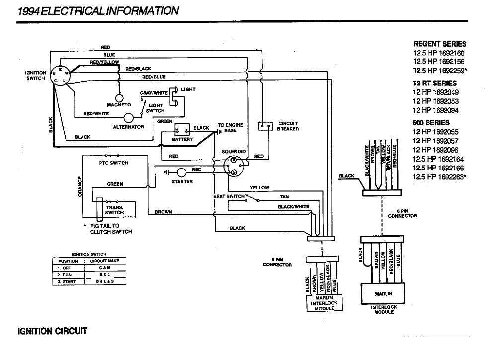 Simplicity Tractor Ignition Wiring Diagram - Wiring Diagrams Owner on
