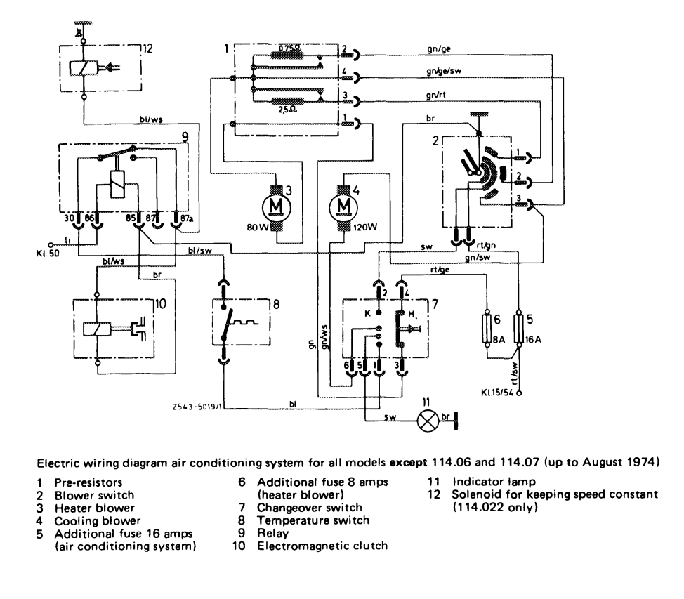 Wiring Diagram Mercedes W114 - Wiring Diagram Review