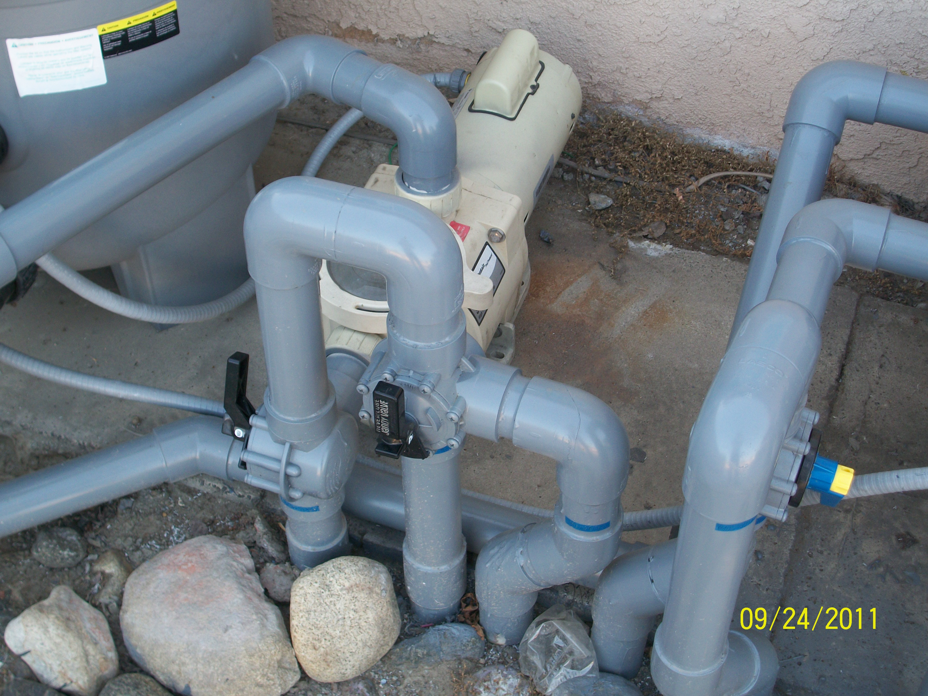 Spa Pool Piping : I have a pool spillover spa at my home the volume is