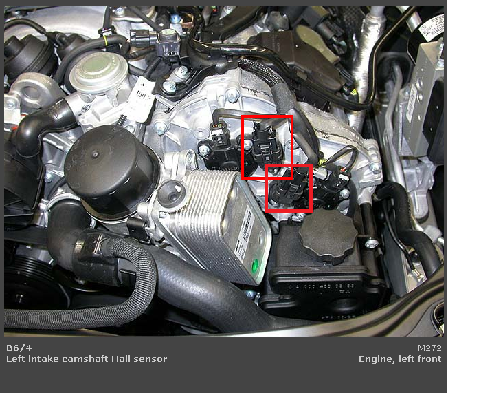 MB e350, replaced the p0018 and p0019 camshaft sensors and