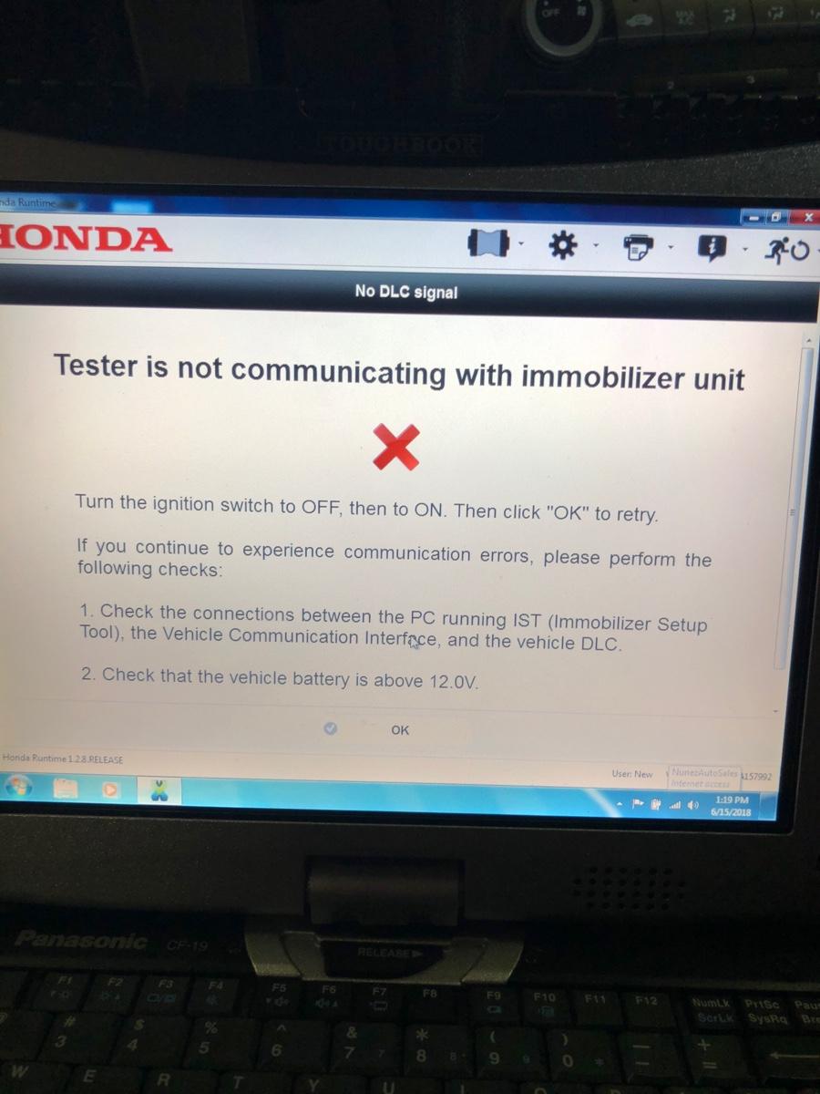 2010 accord registration honda smart key control unit failed msg