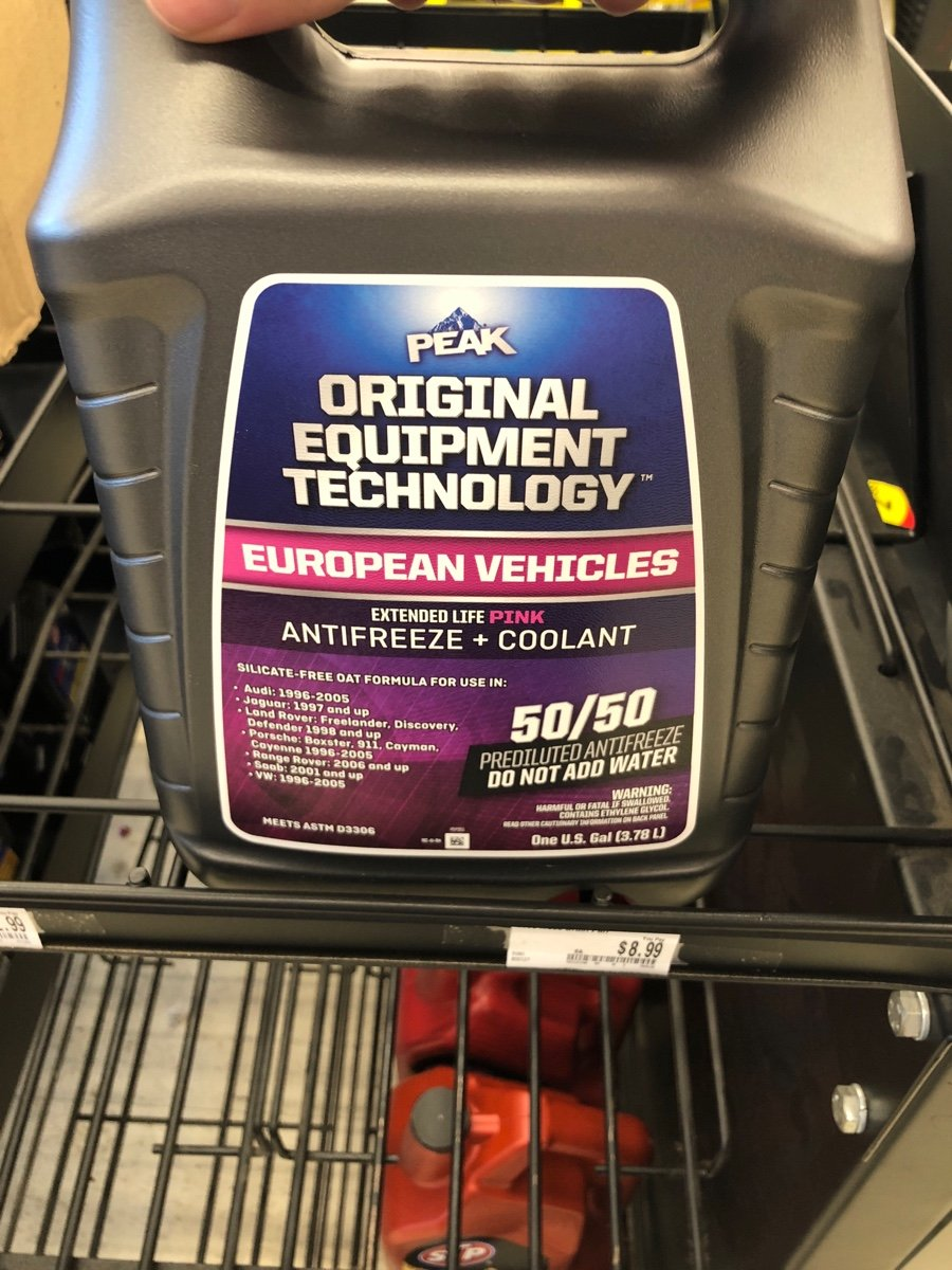 I Have Porsche Macan Turbo 2017 What Coolant Should Use To Top Land Rover Antifreeze Image0