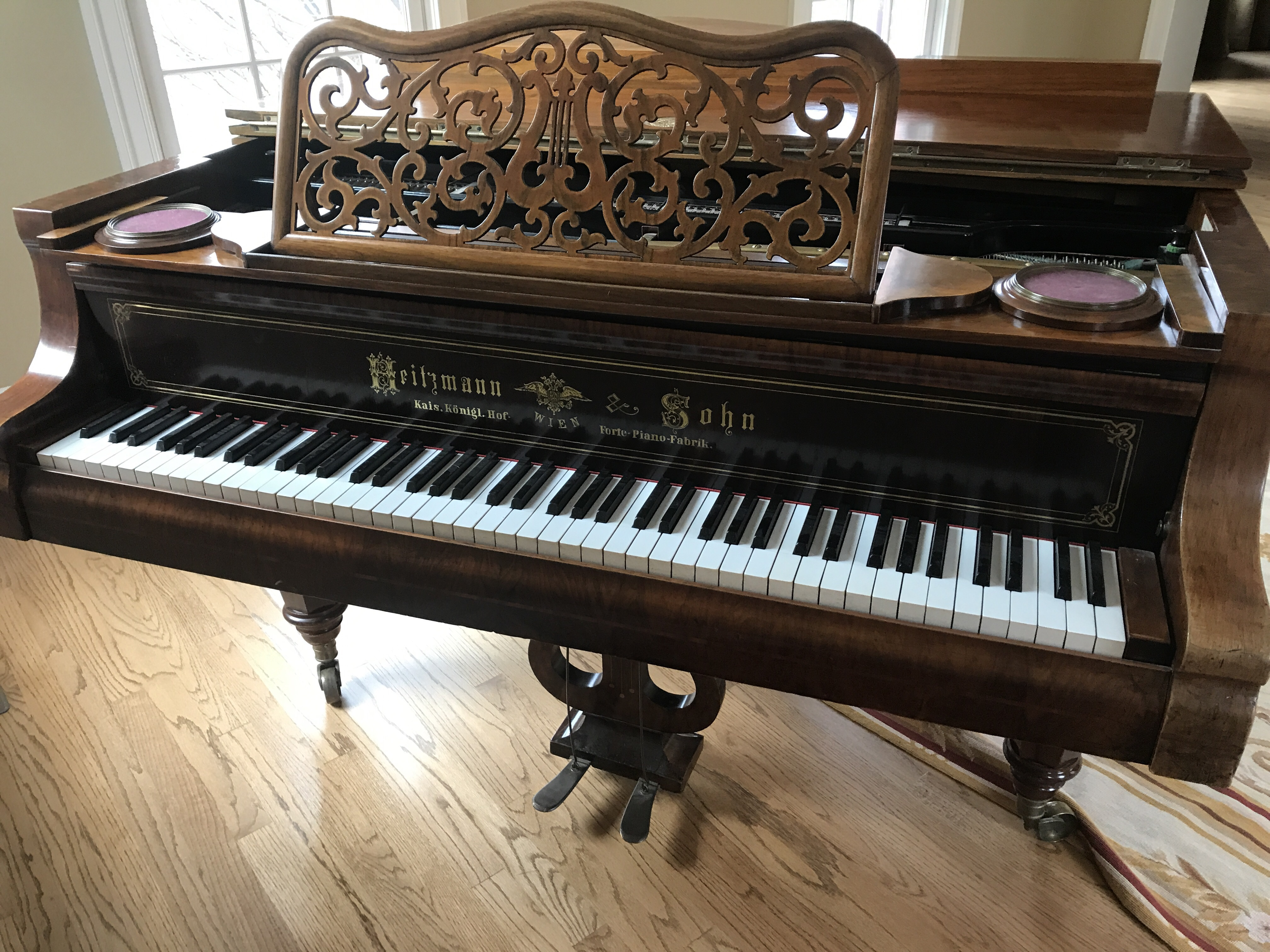 I have a Heitzmann Forte Piano serial number 4,107 that I