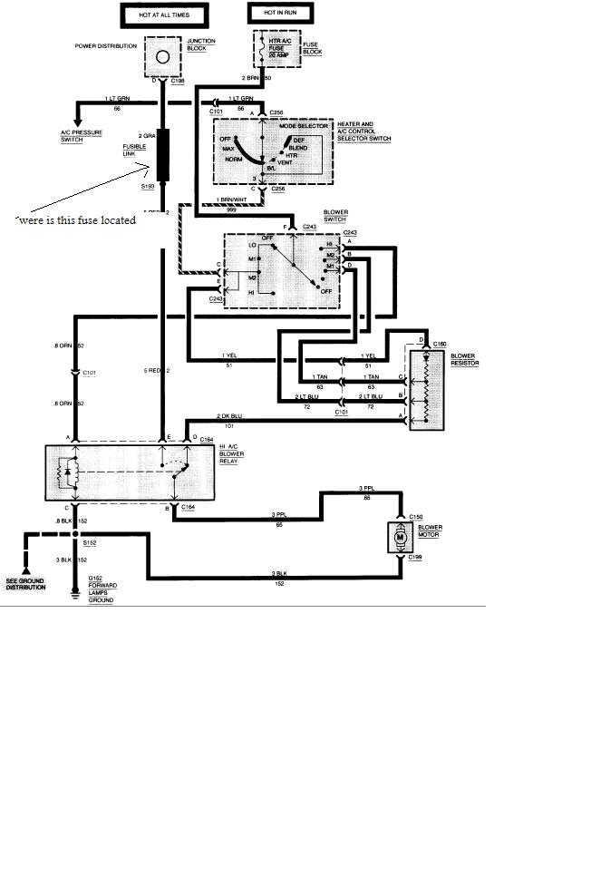 Chevy Van Blower Wiring Diagram