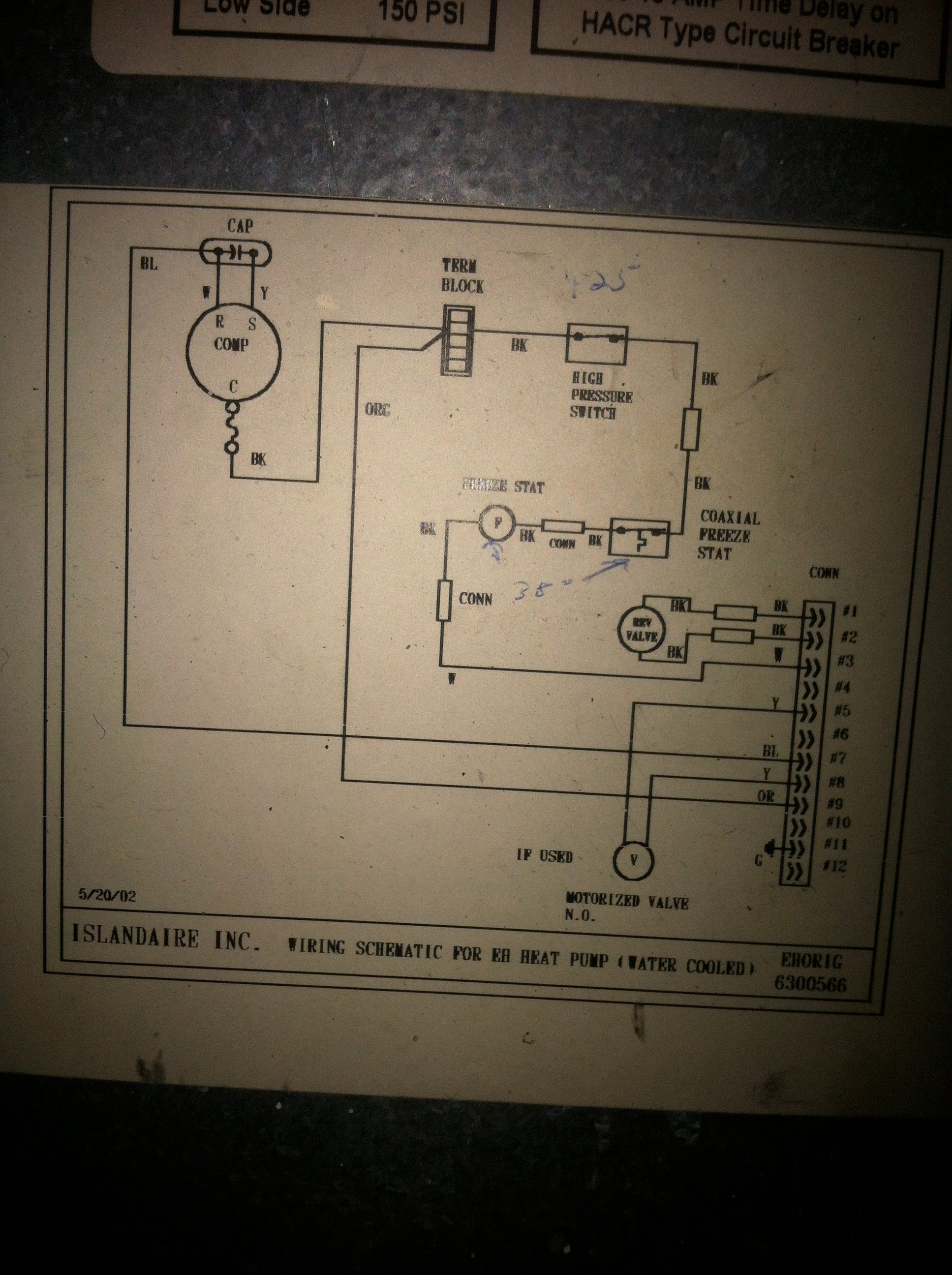 i have a 208 volt water source heat pump it had a little