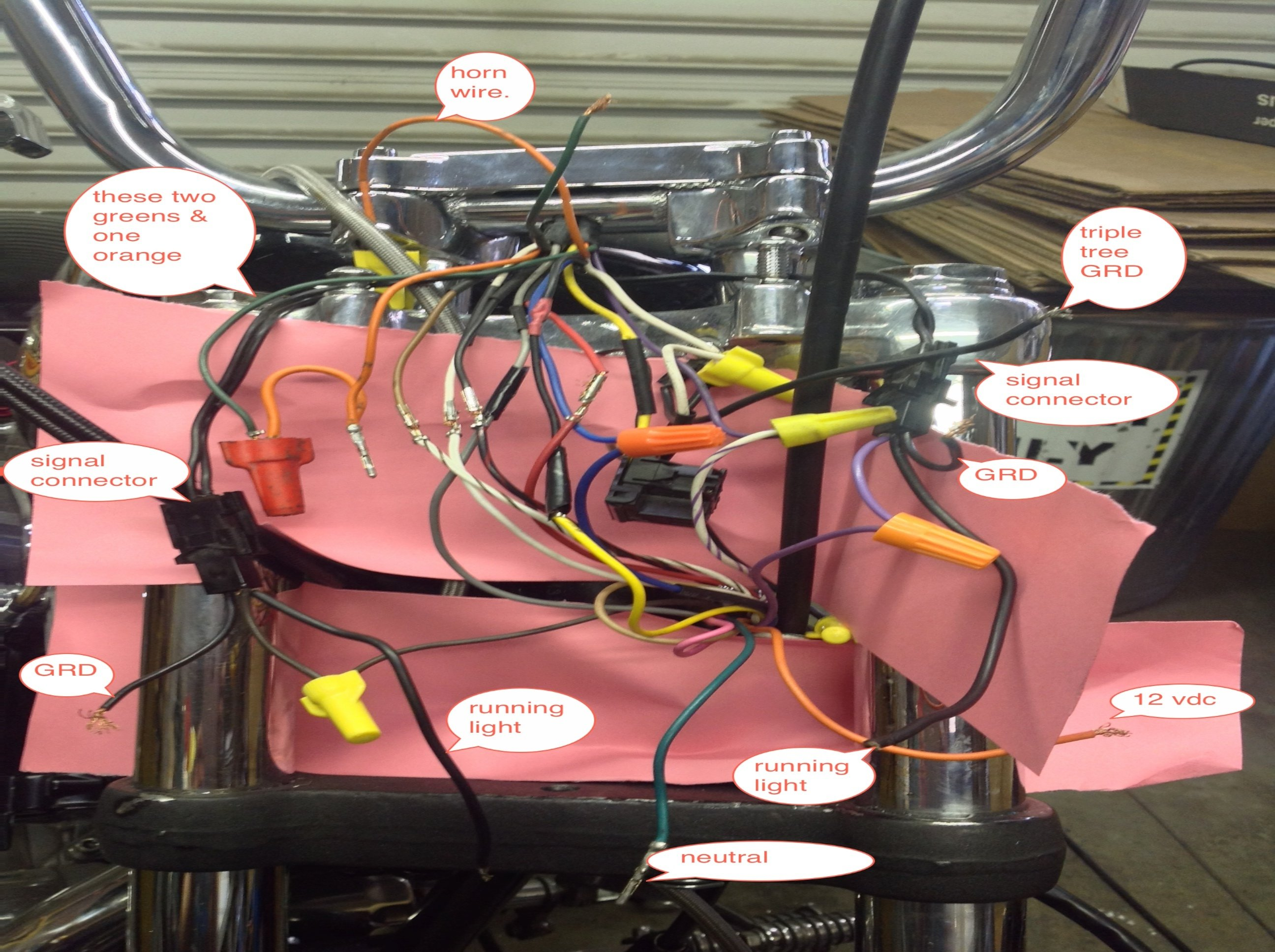 2014 03 08_014110_my_wires_labeled 1993 harley sportster xlh removed headlight and removed three Harley Trailer Harness at edmiracle.co