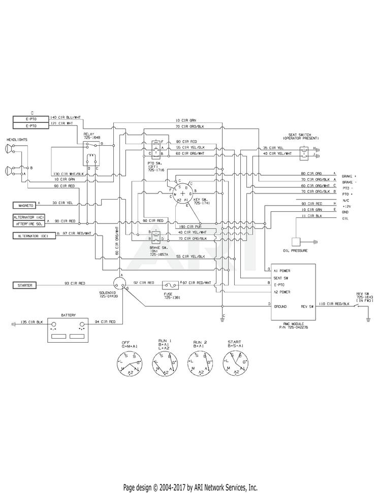 Wireing diagram for 24 hp 1050 club cadet 24hp Kohler engine. 2013