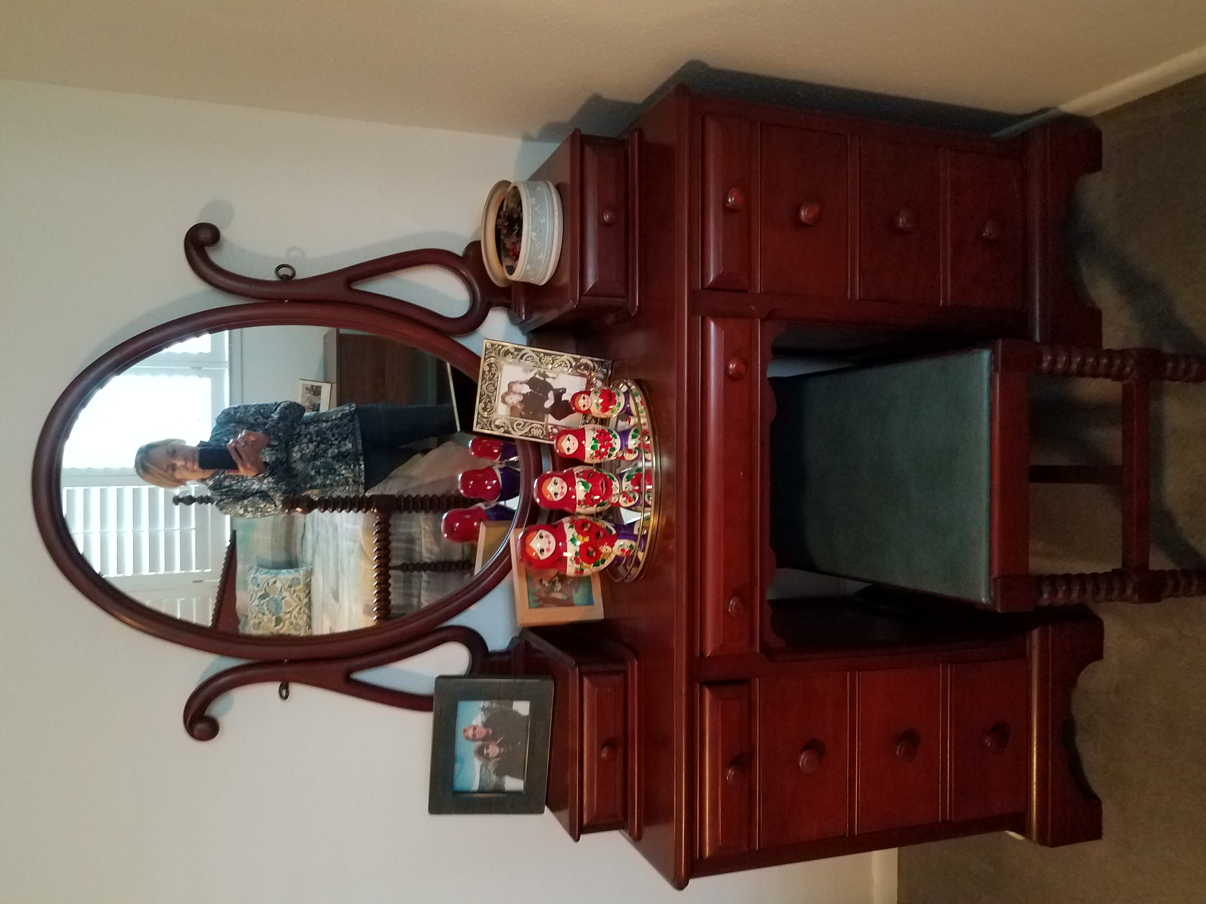 I Have A Bedroom Set Of Solid Cherry Furniture From The 1940s Poster Twin Bed Dresser Chest