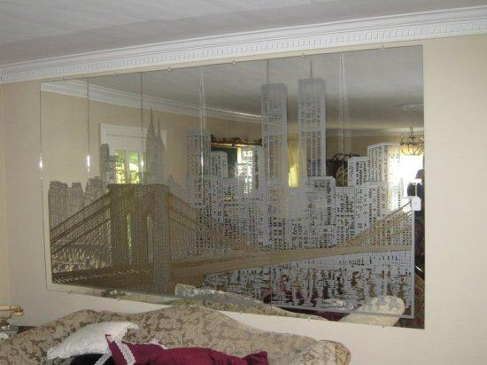 Nyc Twin Towers Wall Mirror