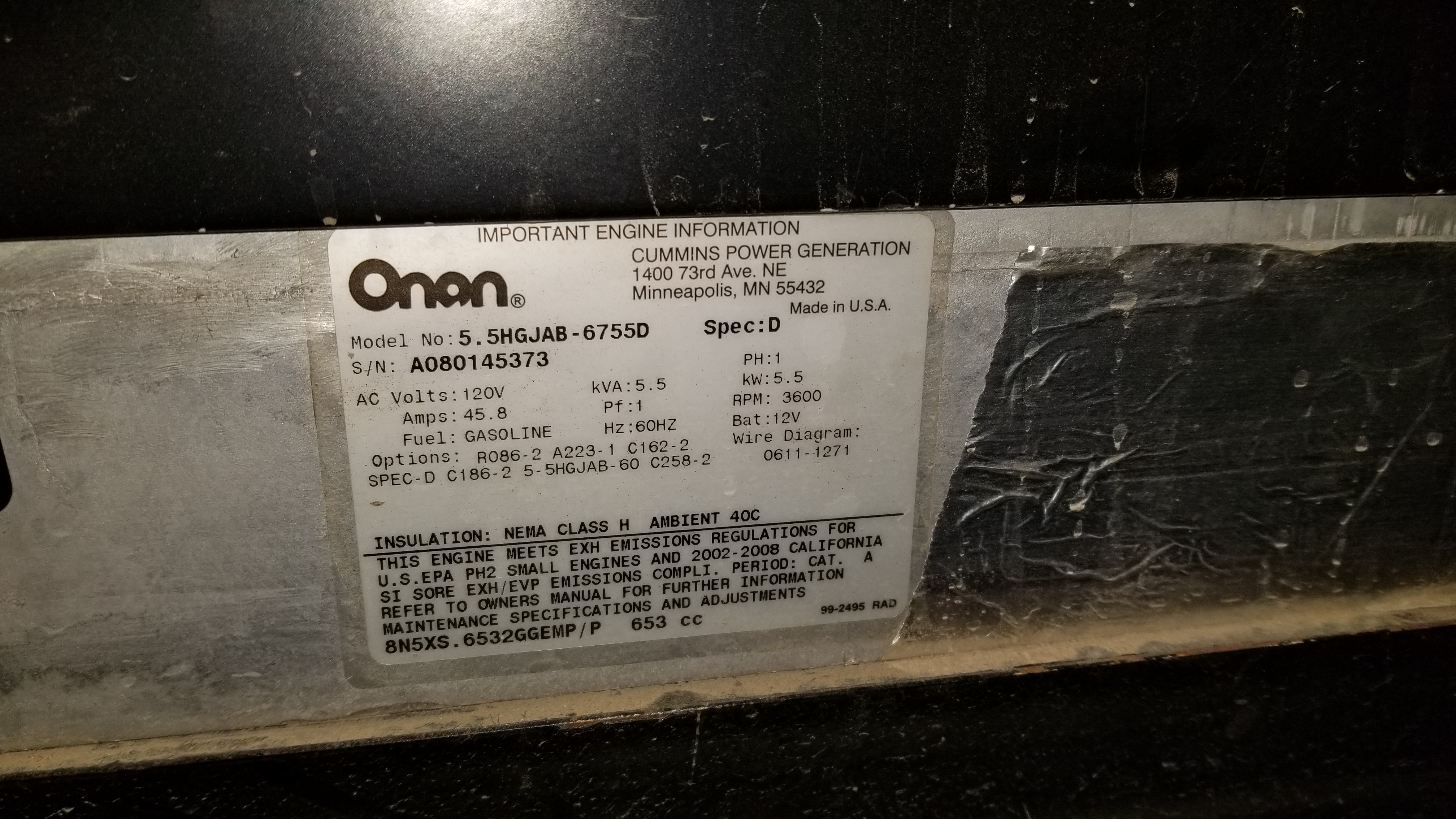 i have a onan 5500 generator that is showing faulty code 29 this rh justanswer com