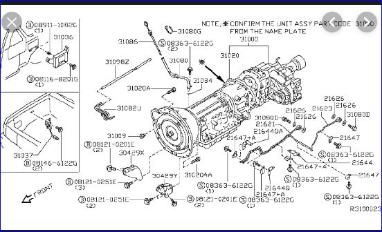 Need Vacuum Line Diagram For 2001 Nissan Xterra 3 3l Vg33e Where Does The Metal Tube Coming Off The Transmission Hook
