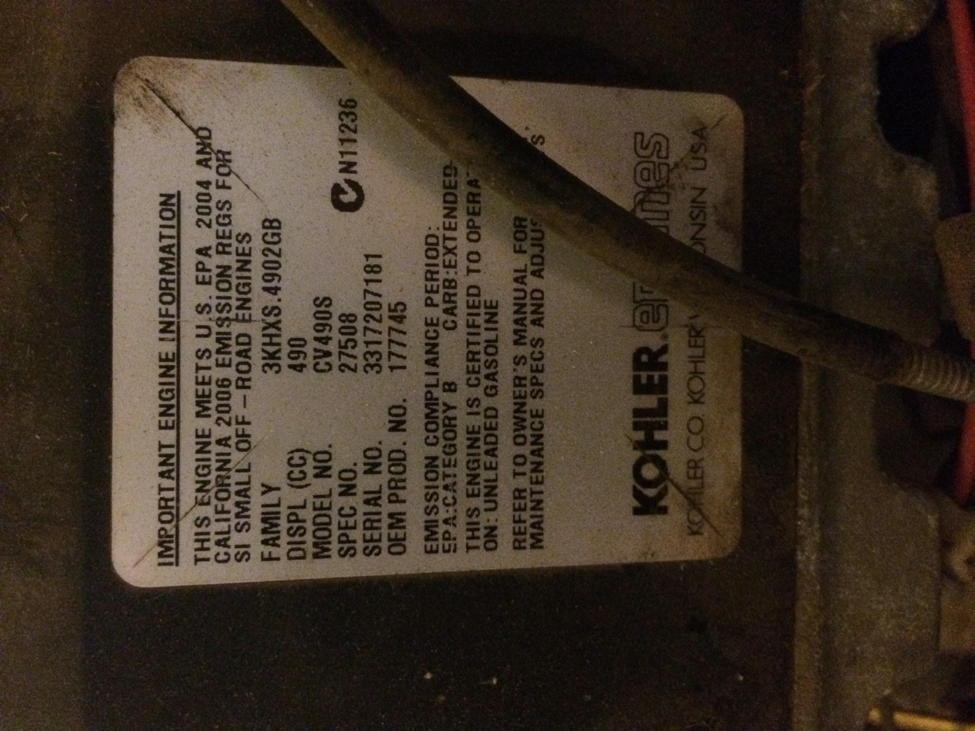 craftsman kohler command 15hp ohv manual