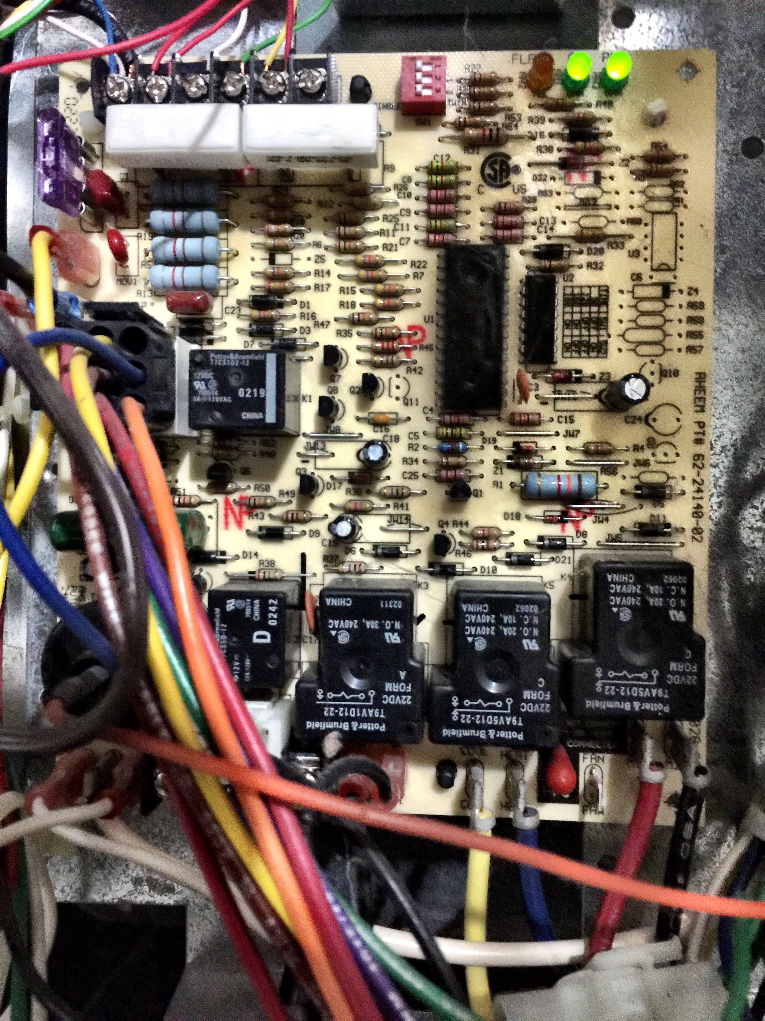 I Have A Ruud Achiever 90 Plus I Replaced My Thermostat Today With Ruud  Heat Pump Wiring Ruud Control Board Wiring Diagram