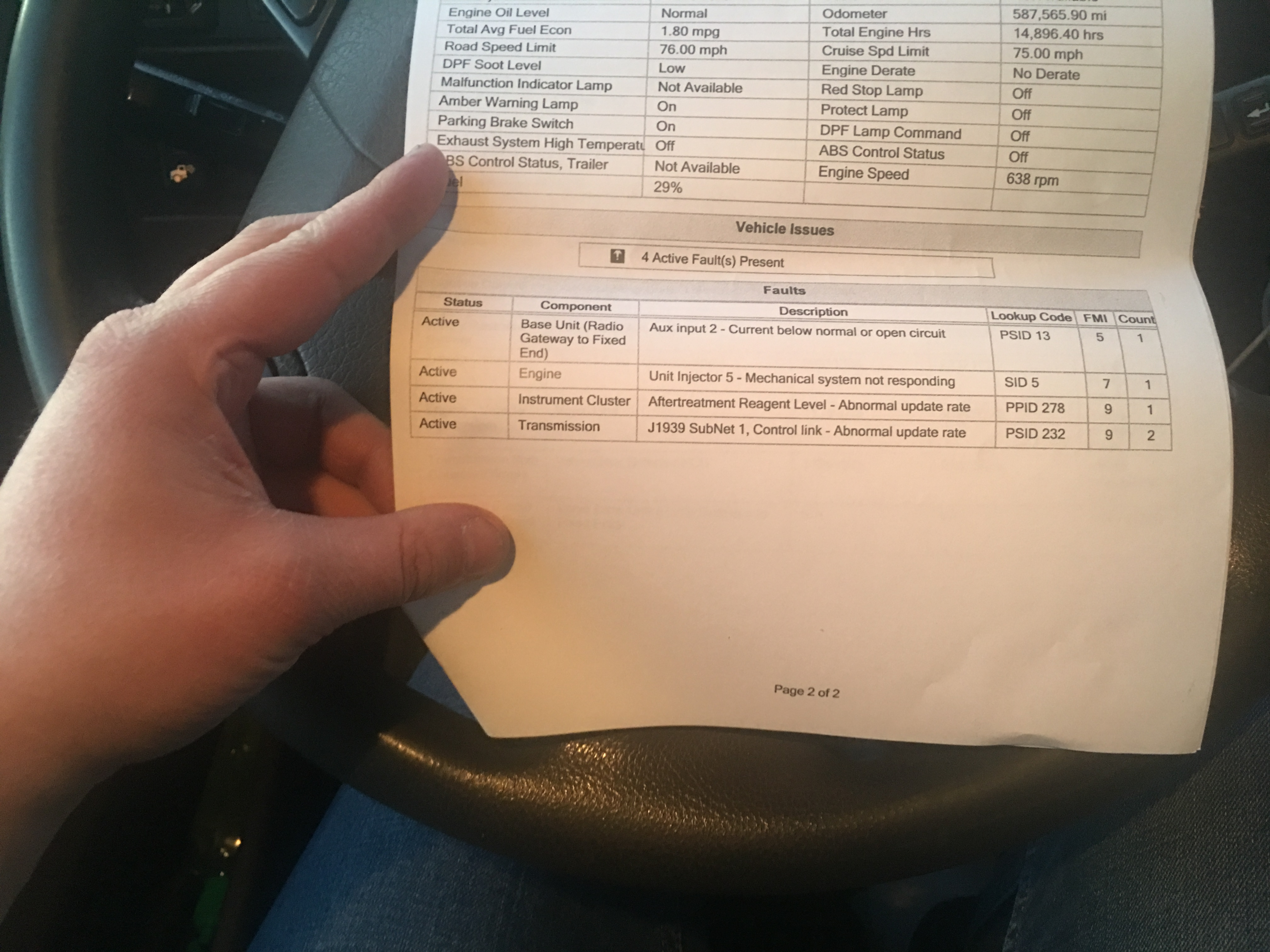 Volvo D16 Wiring Harness Failure Worksheet And Diagram 240 I Has Some Problems With My D13 A While Go Everything Rh Justanswer Com Routing Semi Truck
