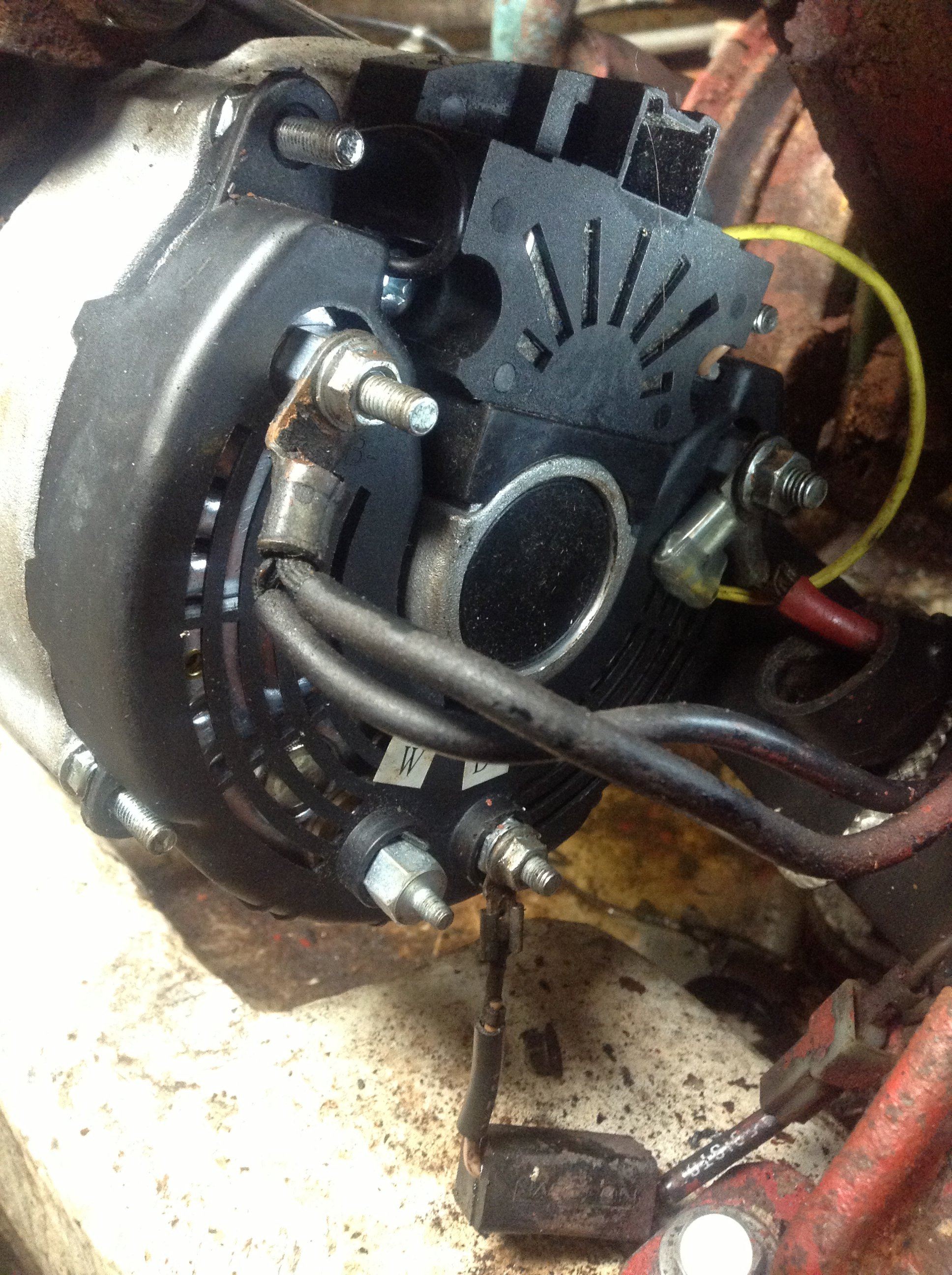 I Installed The Alternator On The Boat Volvo Penta Aq260 5.7. However I  Noticed That The Voltage Gauge Reads 10 To 11