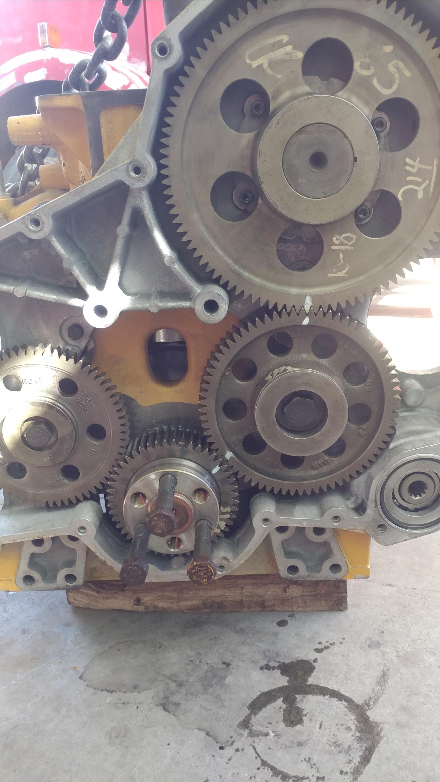 Cat c13 I'm working on a cat C13 and I put all the gears