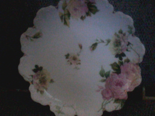 Back of scalloped plate