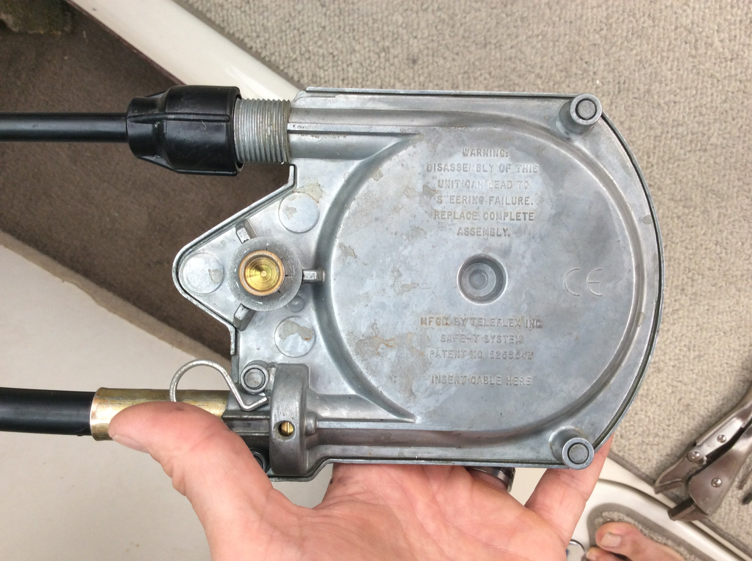 How Do You Disconnect The Teleflex Cable From The Volvo