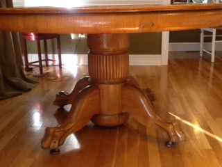 I Have A 54 Round Antique Tiger Oak Claw Foot Pedestal Table The