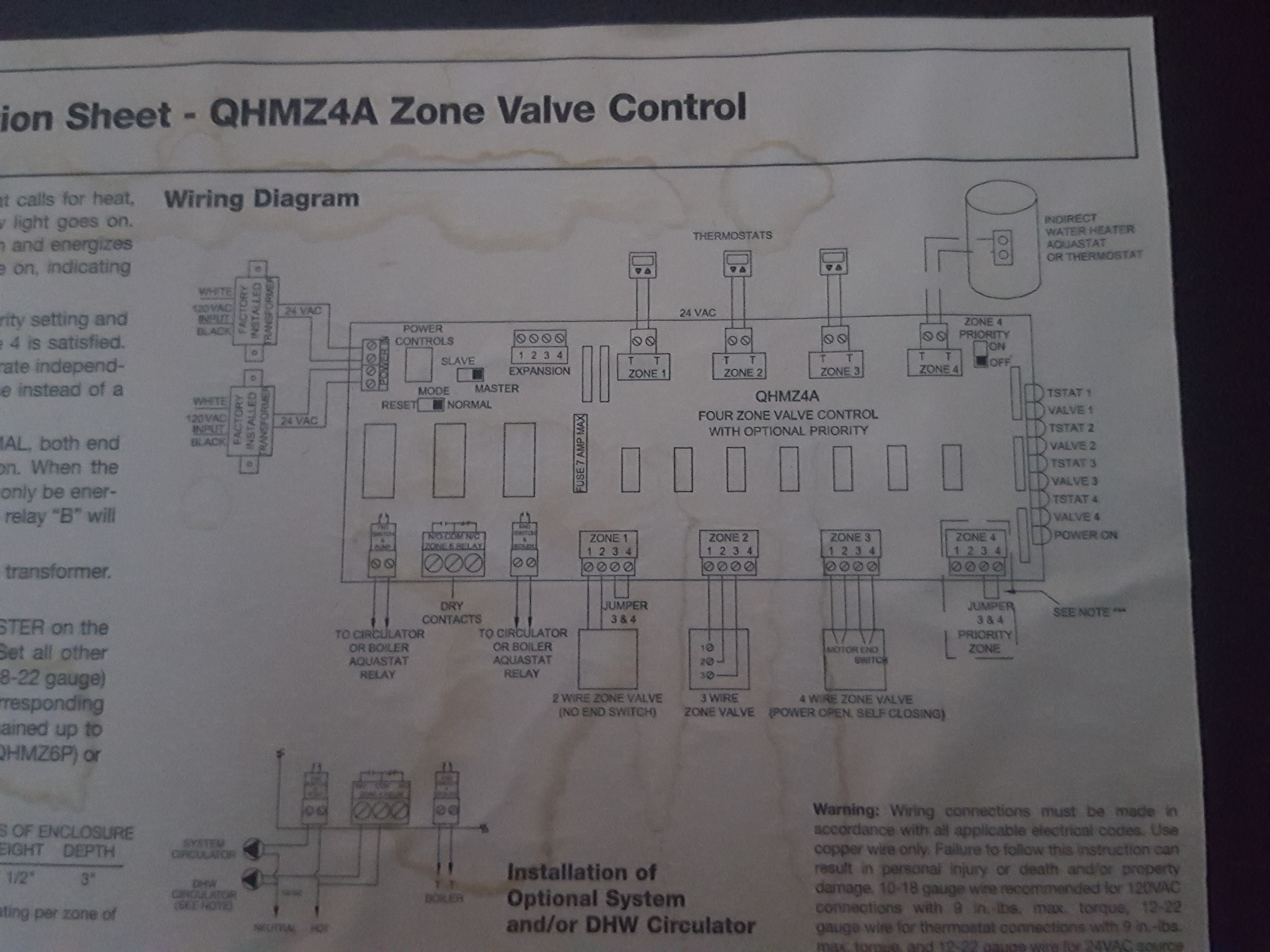 I Have A Hydronic Controller That Think Needs Replacement Zurn Zone Valve Wiring Diagram For Honeywell 20171123 120548