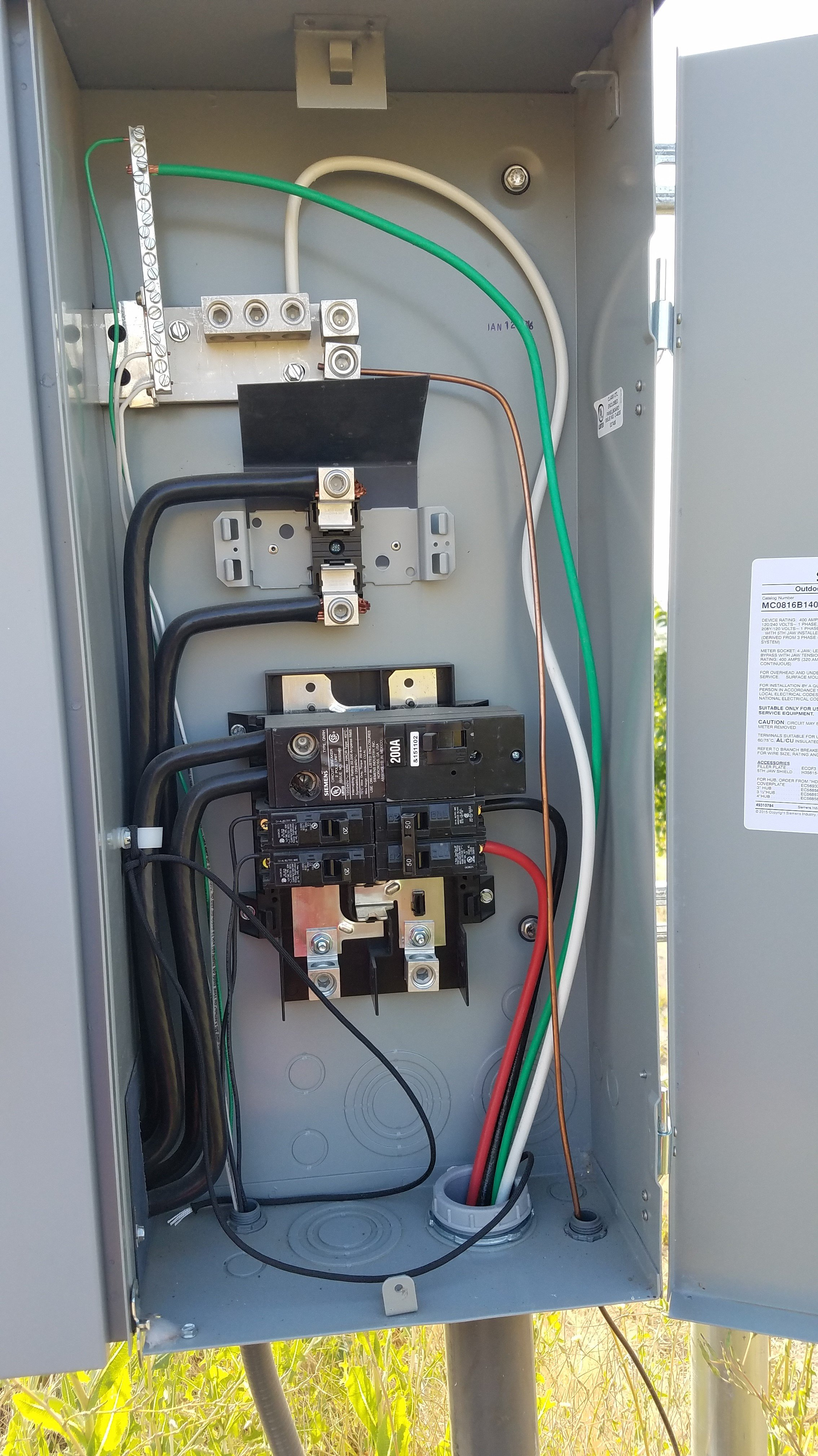 This Question Is For Licensed Electrical Contractor Who Did A Wiring Guest House Mainpanel