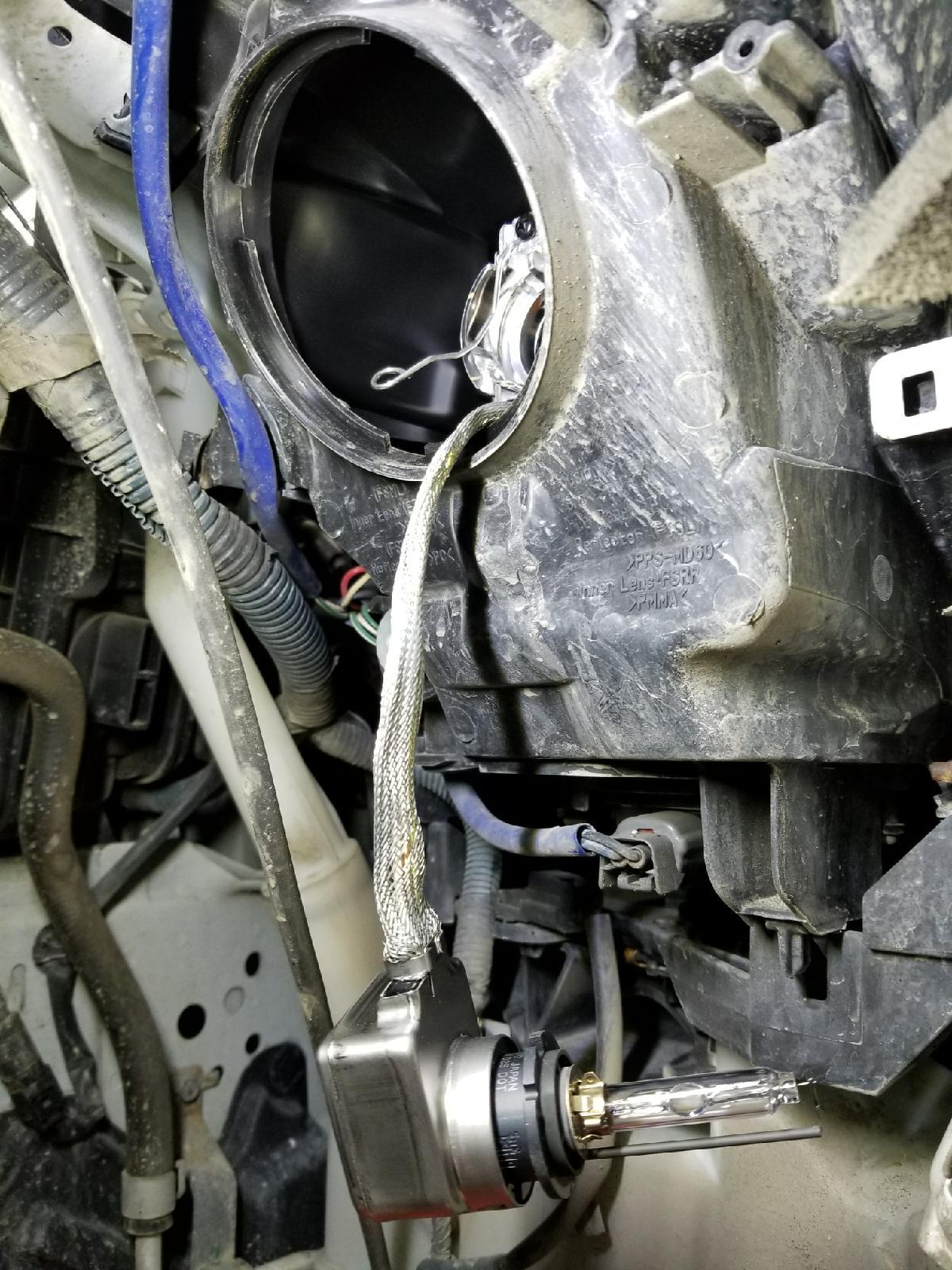 I am installing LED headlights into my 2012 Infiniti G37 ... G Headlight Wiring Harness on