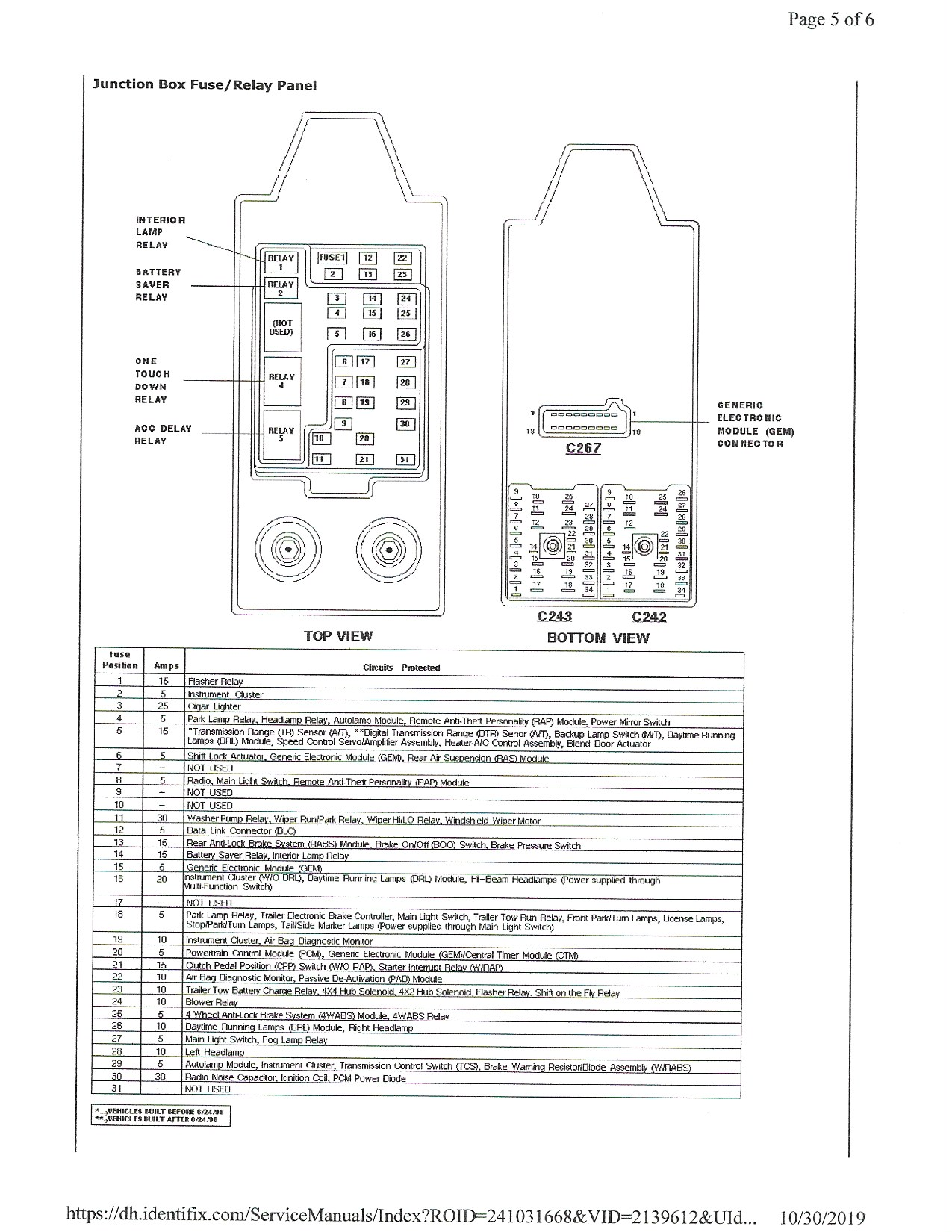 97 F150 Fuse Box In Truck Doesn U2019t Match The Diagrams In
