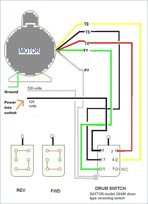 Single Phase Induction Motor Forward Reverse Wiring Diagram