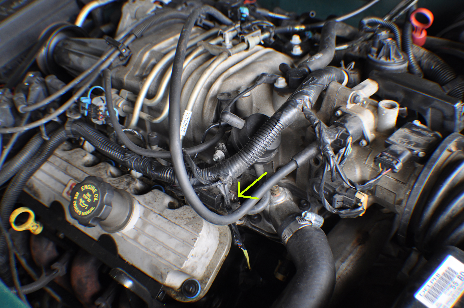 Ive Reassembled My Engine After Replacing Head Gaskets Everything Buick Vacuum Diagrams Heres 2 Pics Theres Two Metal Tabs That Must Hold A Hose Or Something On