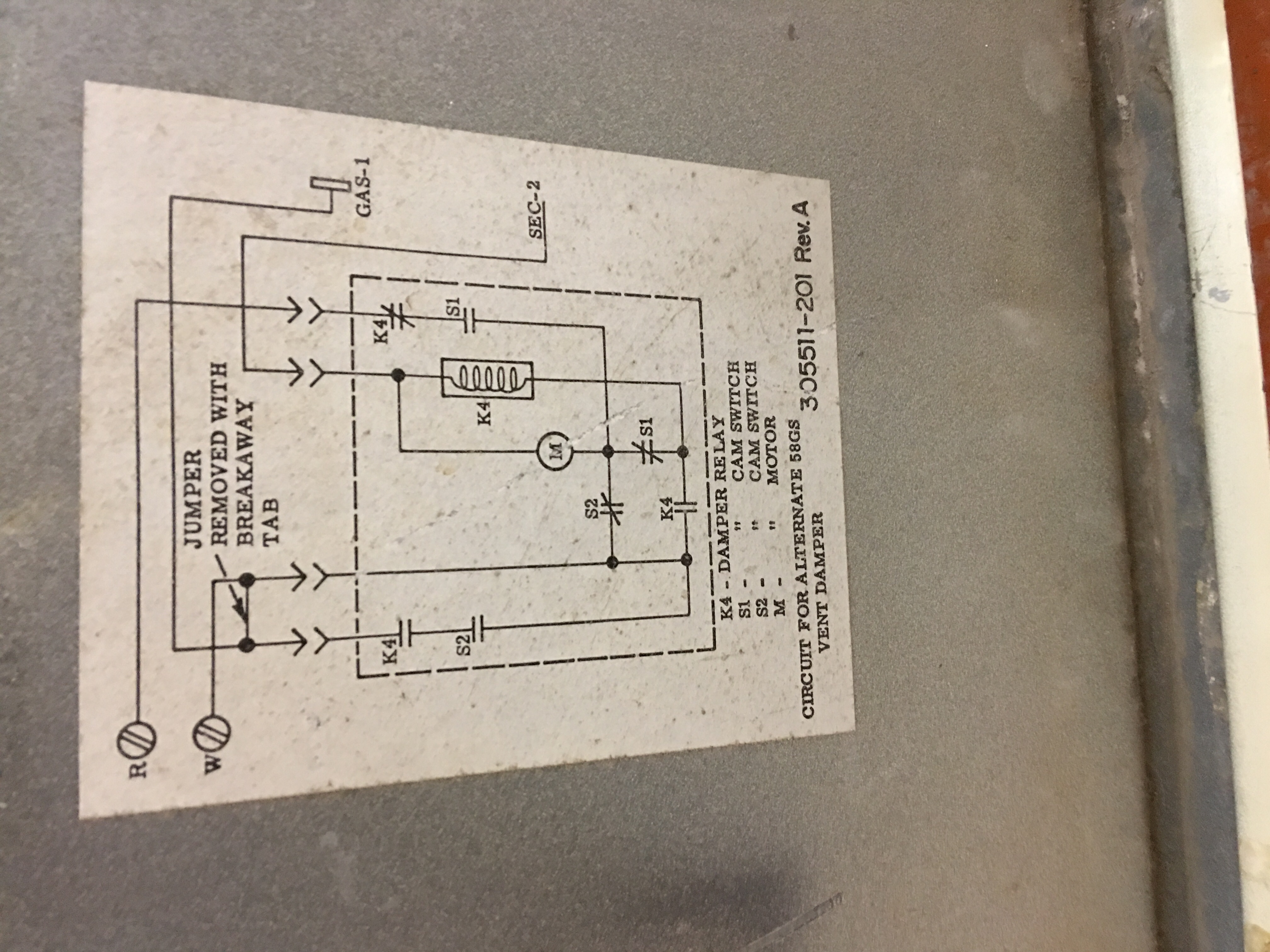 I Have A Furnace Believe Model Number 305318 201 Rev Need The Vent Damper Wiring Diagram Image