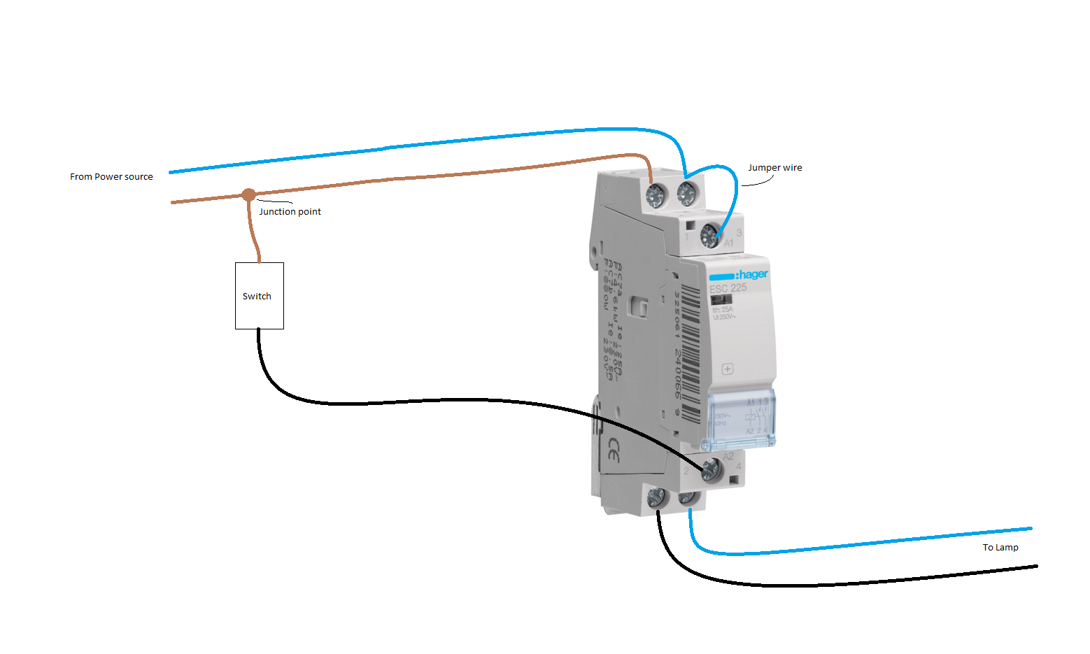 I Need The Wiring Diagram To Connect Hager 225 I Am An Electrician And Need The Wiring Diagram For The Telerupteur