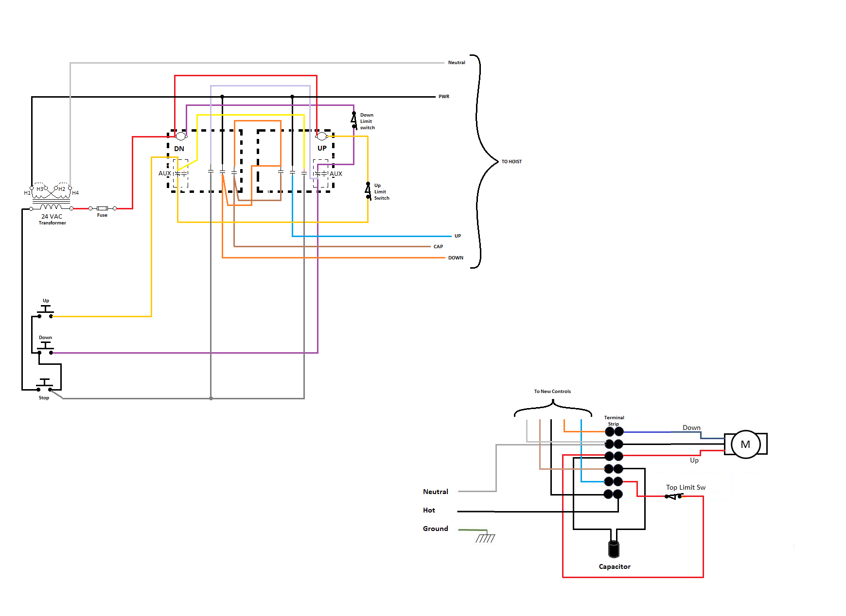 Pittsburgh Automotive Electric Hoist Wiring Diagram from f01.justanswer.com