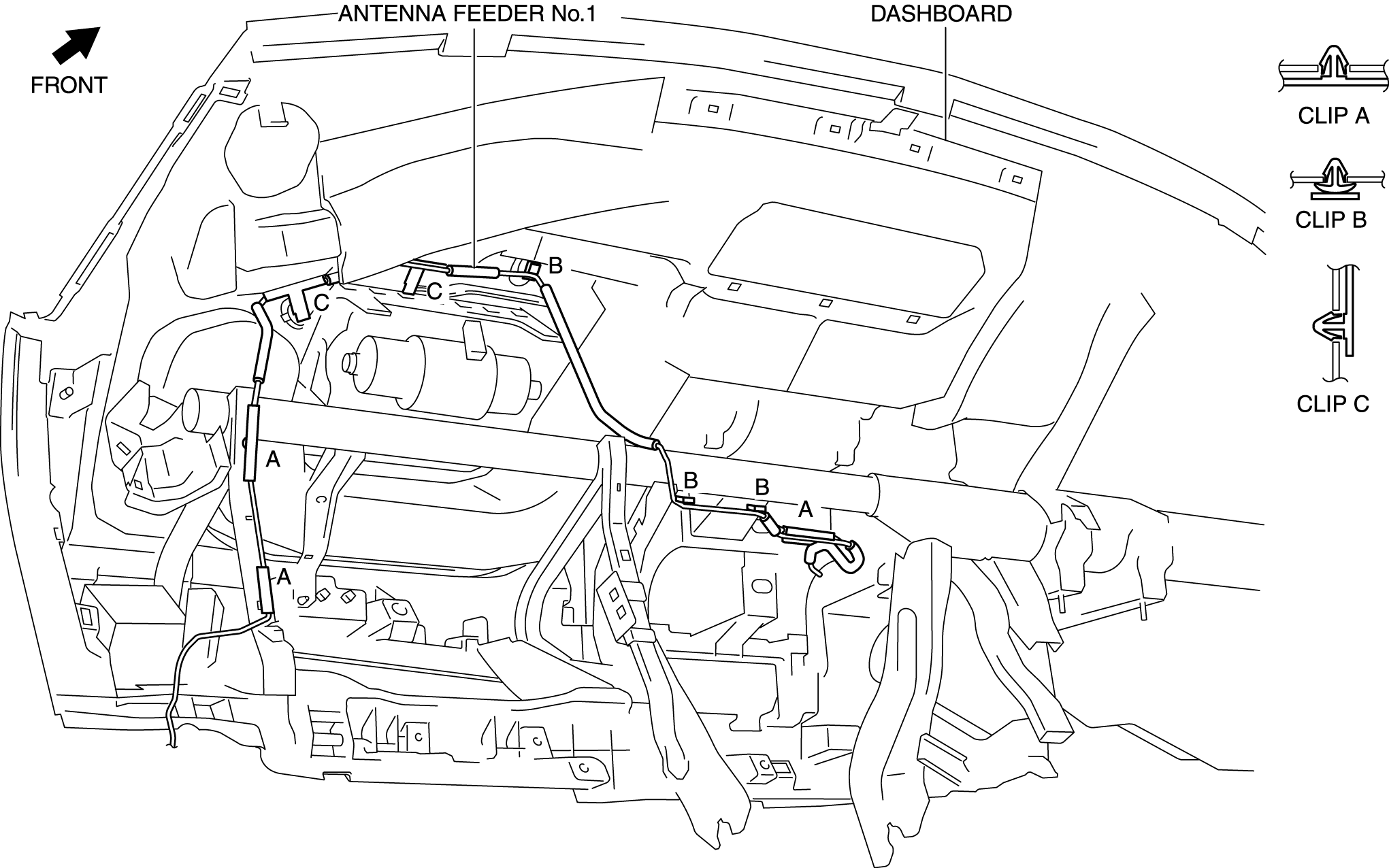 Need to replace the antenna wire on a 2014 CX-9  Remove the radio
