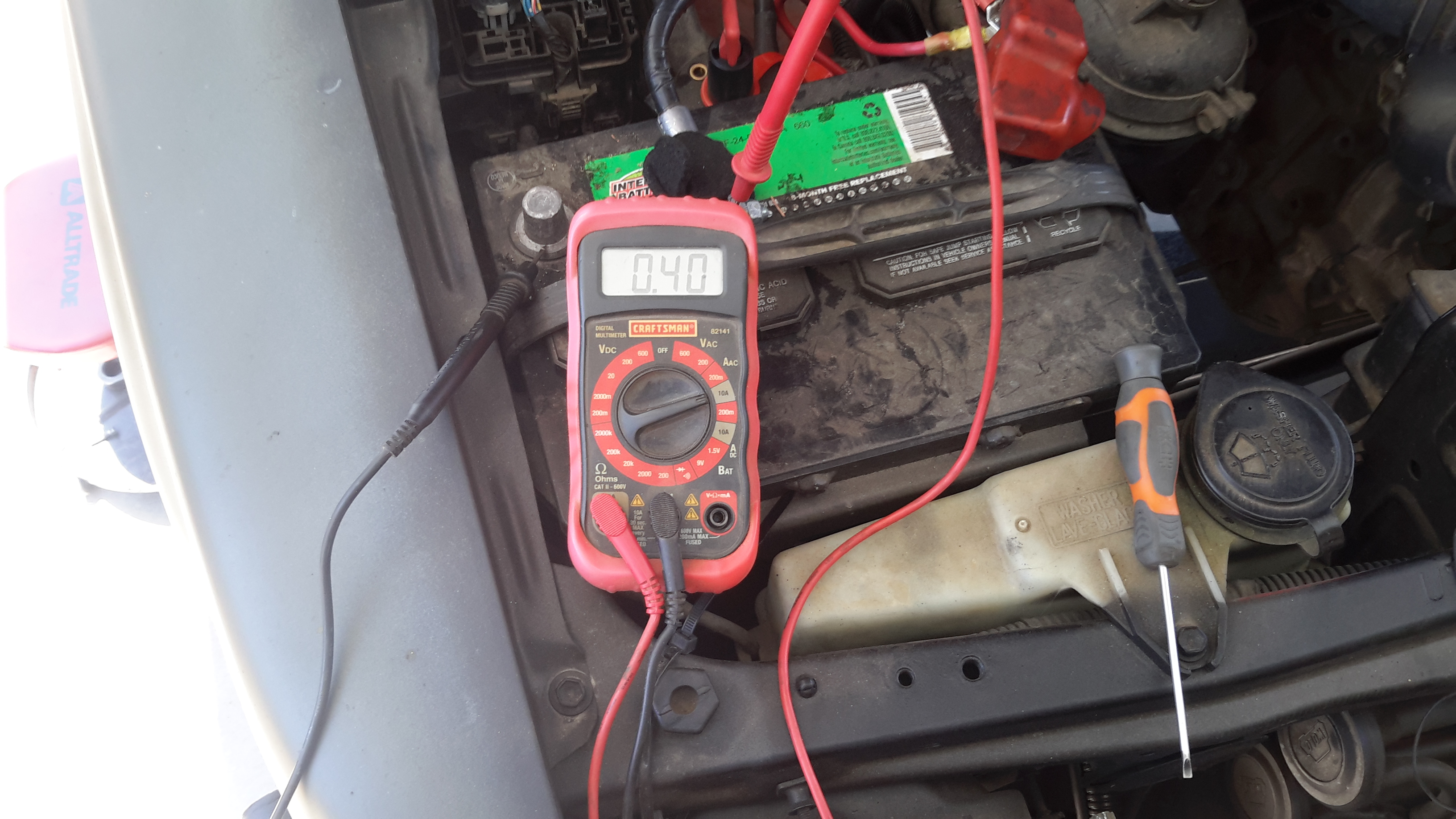 89 Toyota Pickup 22re Has A Parasitic Draw Causing Battery
