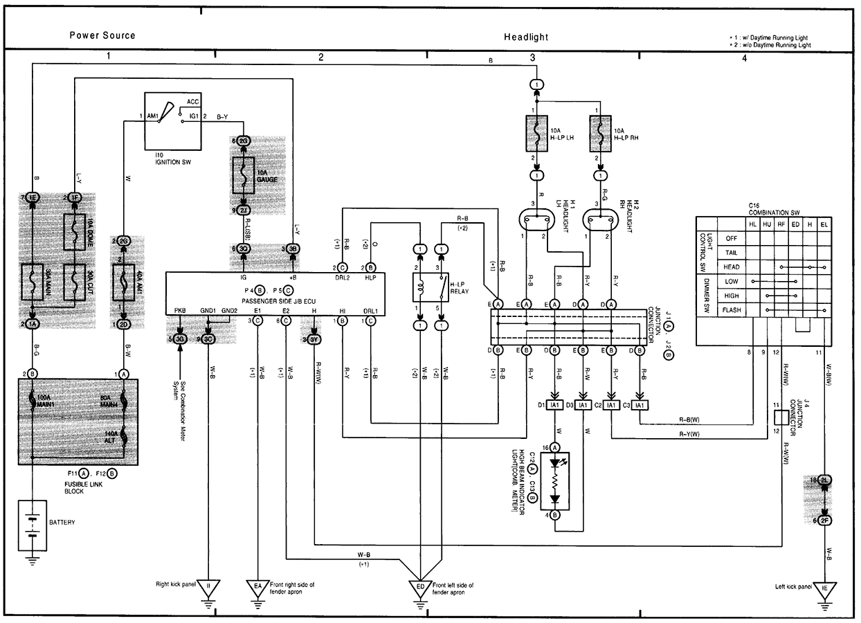 Toyota RAV4 Service Manual: Drl relay circuit