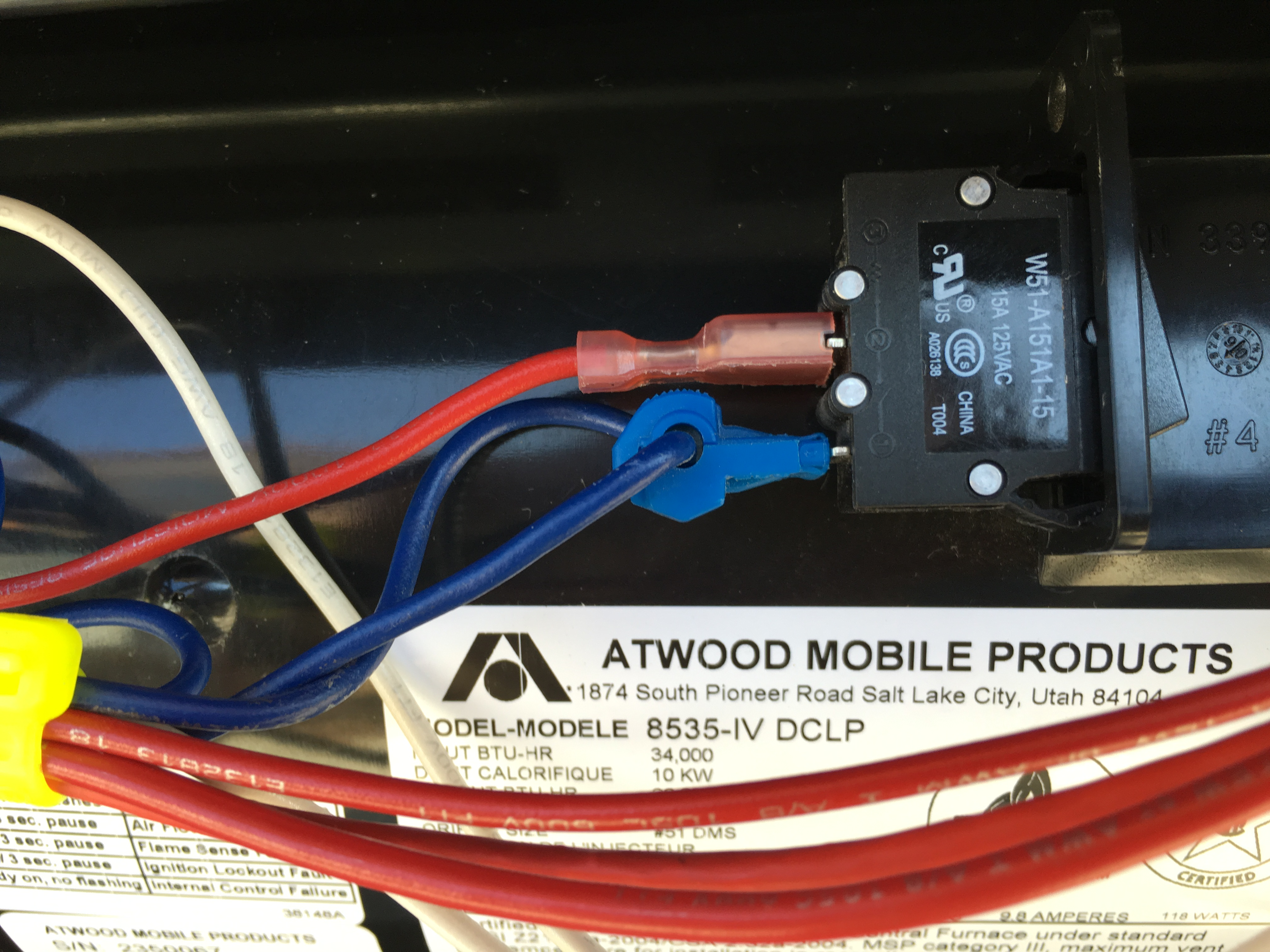 Just Replaced The Blower Fan On My Atwood 8535 Iv Dclp And Have Excalibur Wiring Diagram 2