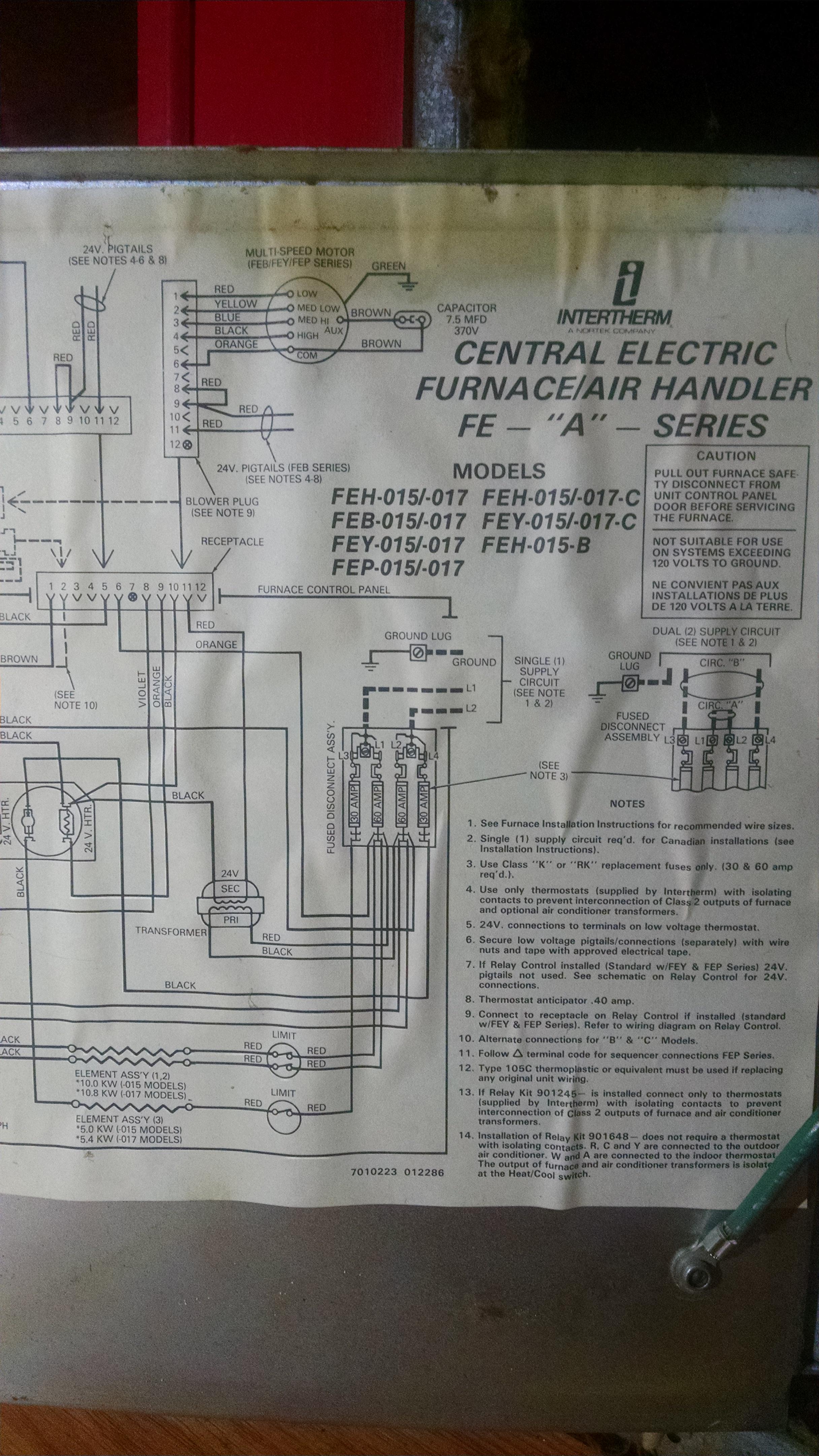 I Have A Intertherm Ultraflex Model Nub  Feh