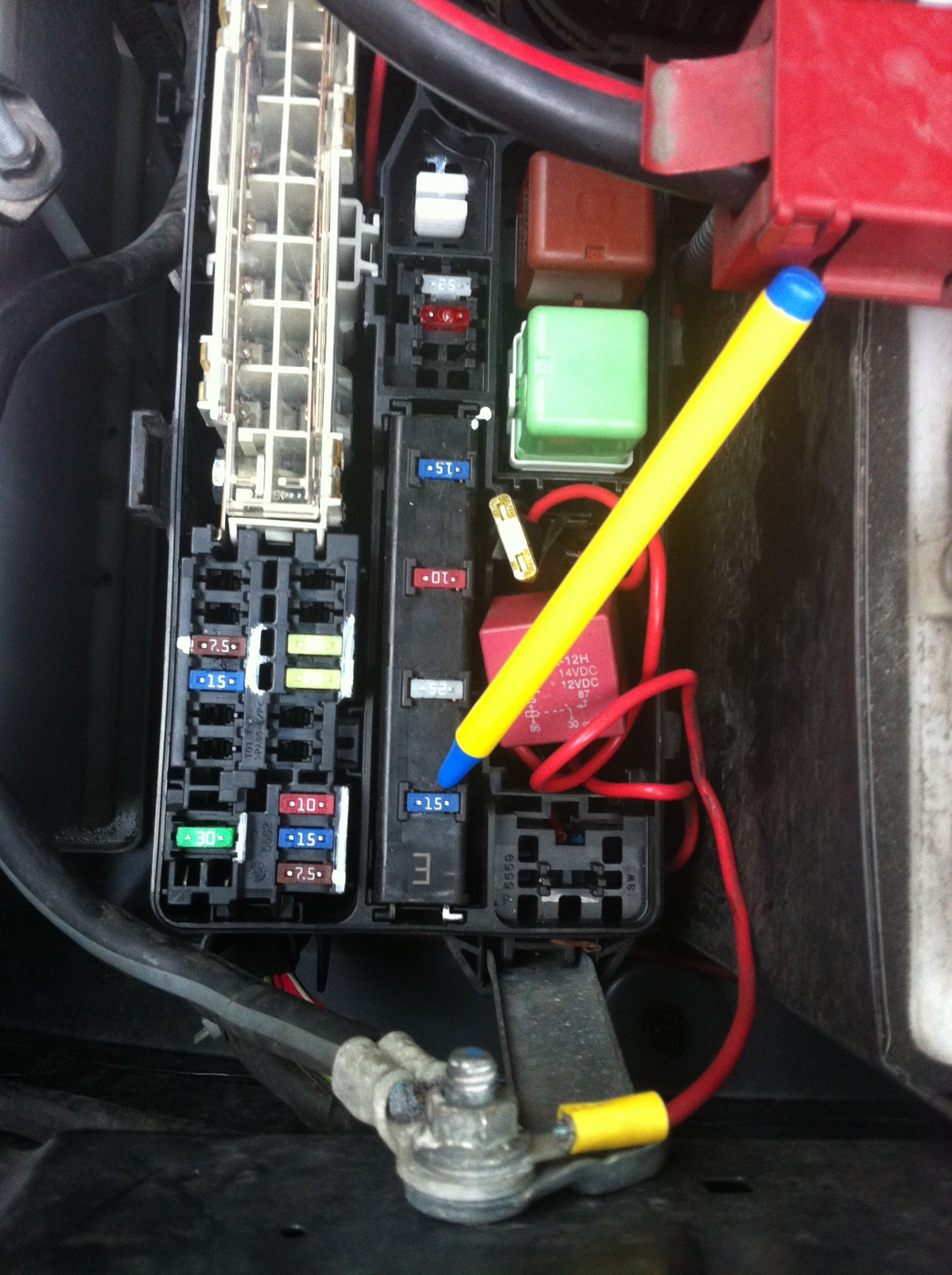 toyota fuse box diagram · need to locate the magnetic clutch relay for the  a c air