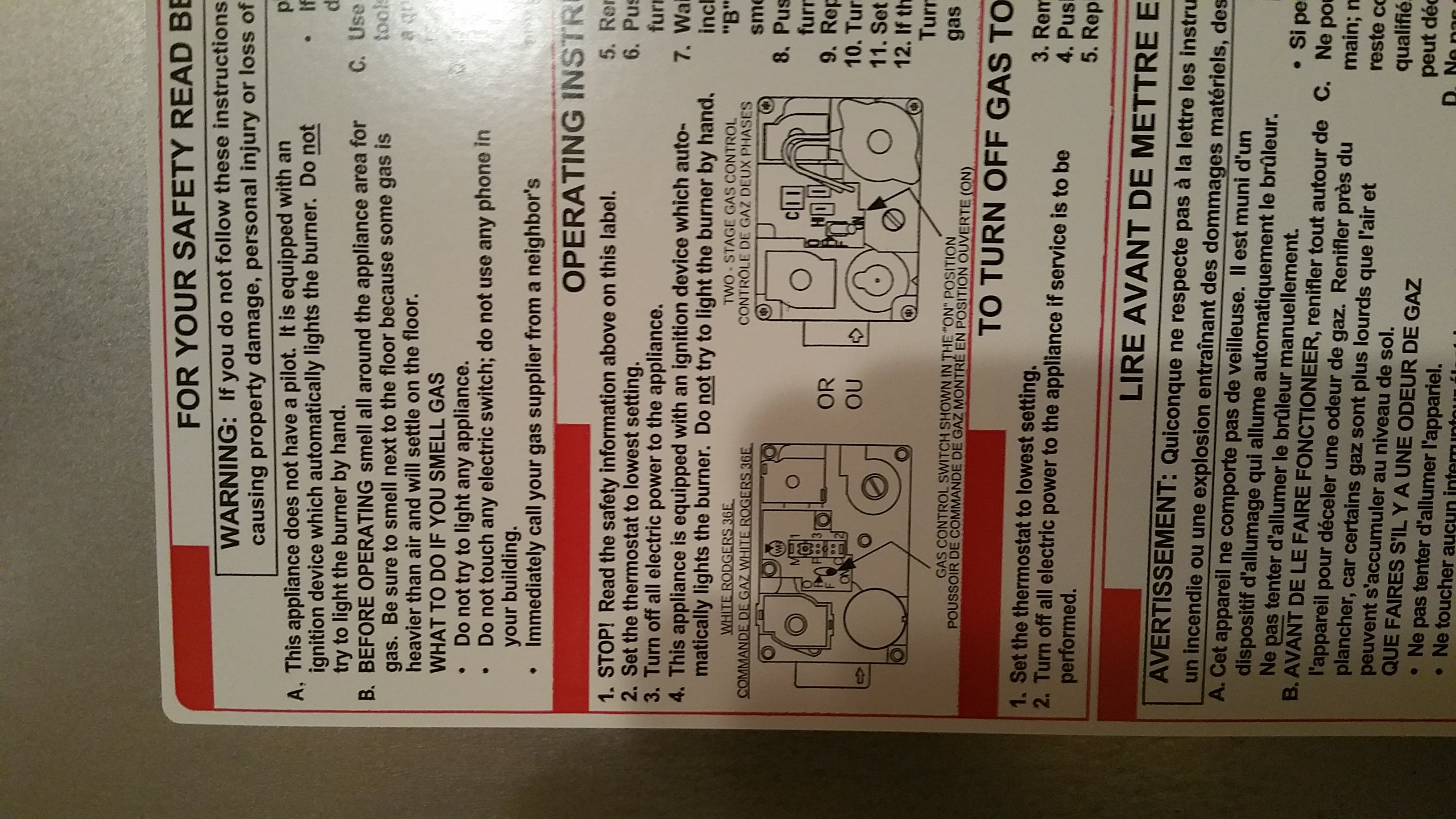 Non battery thermostat wont stay on. when reset it heats up the home on