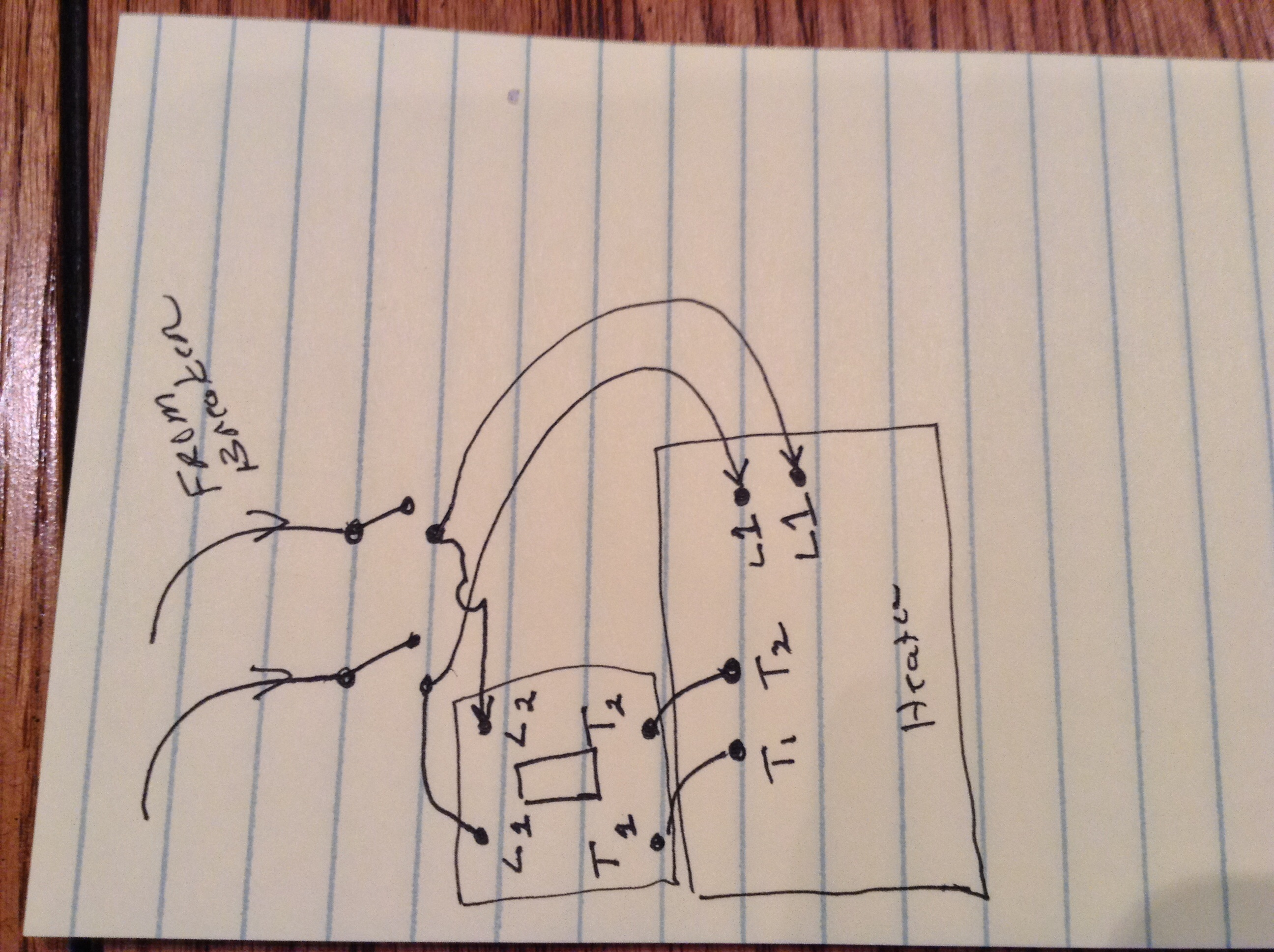 I have just wired in my 10kw 240 heater, to a remote line ... Ouellet Radiant Heater Thermostat Wiring Diagram on